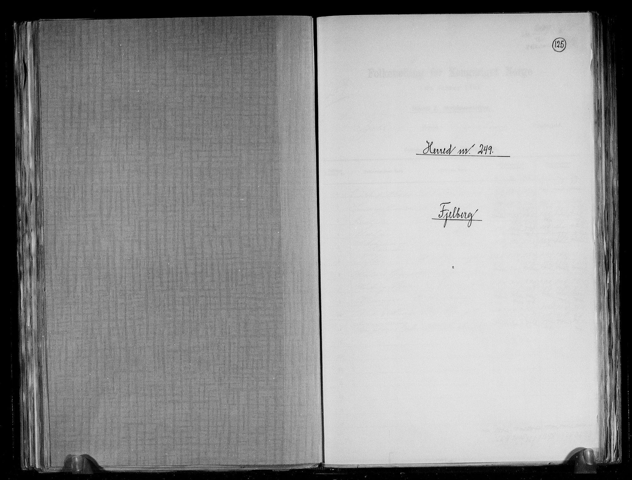RA, Folketelling 1891 for 1213 Fjelberg herred, 1891, s. 1