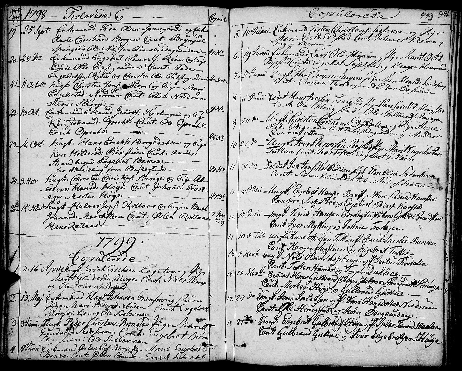 SAH, Ringebu prestekontor, Ministerialbok nr. 3, 1781-1820, s. 442-443