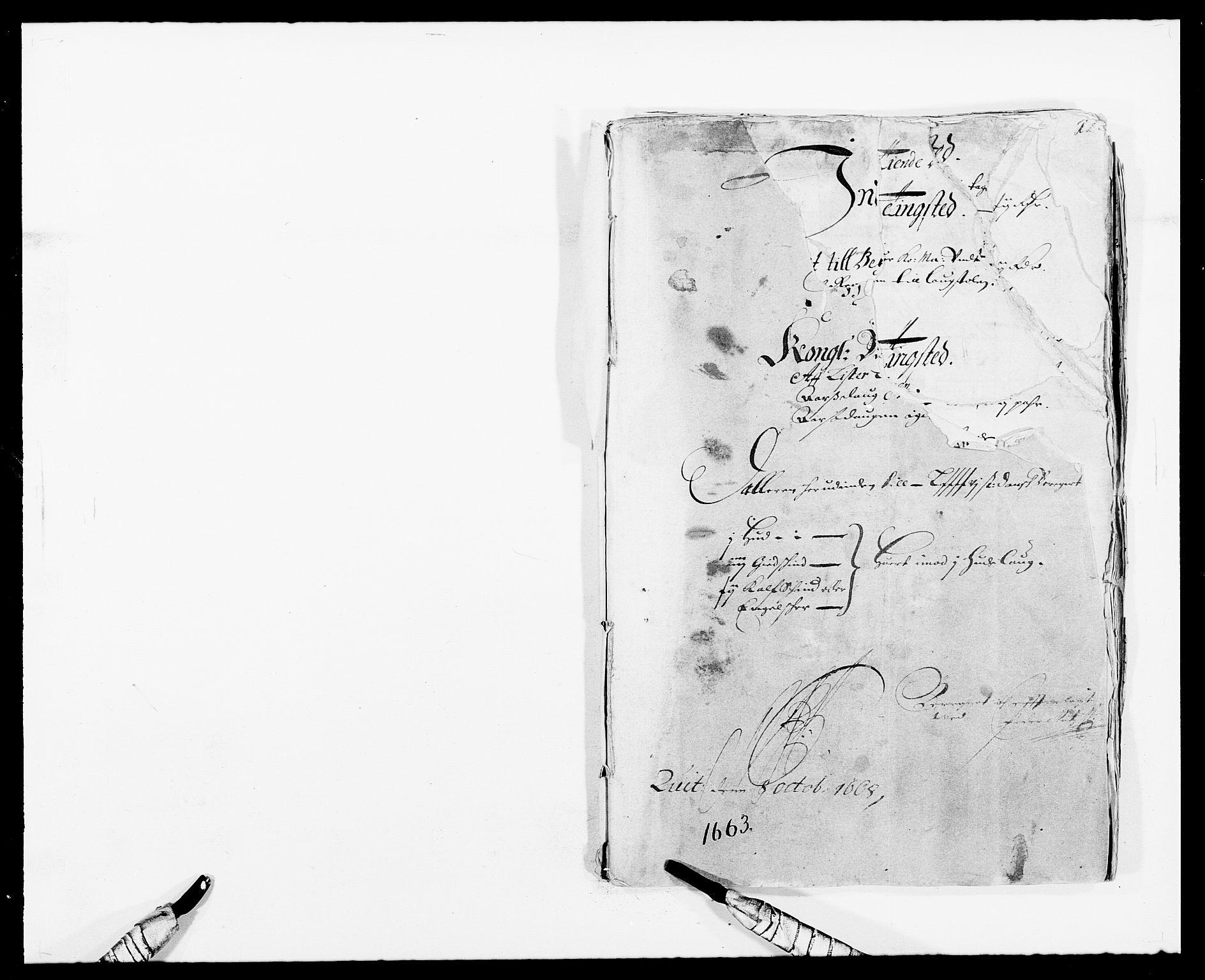 RA, Rentekammeret inntil 1814, Reviderte regnskaper, Fogderegnskap, R41/L2523: Fogderegnskap Lista, 1663-1664, s. 1
