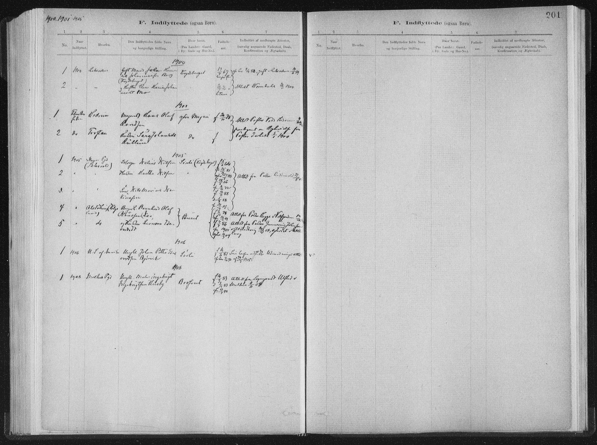 SAT, Ministerialprotokoller, klokkerbøker og fødselsregistre - Nord-Trøndelag, 722/L0220: Ministerialbok nr. 722A07, 1881-1908, s. 201