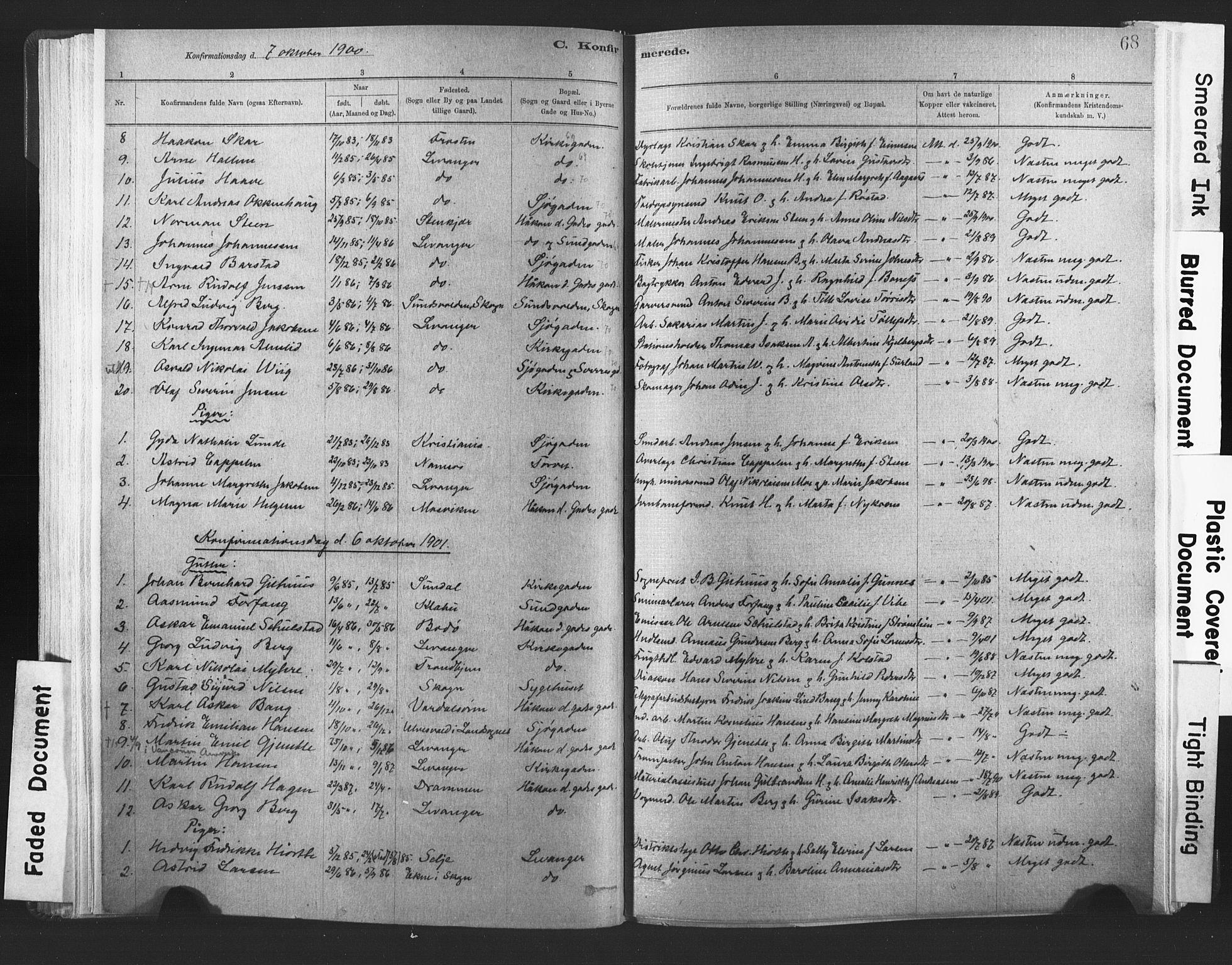 SAT, Ministerialprotokoller, klokkerbøker og fødselsregistre - Nord-Trøndelag, 720/L0189: Ministerialbok nr. 720A05, 1880-1911, s. 68