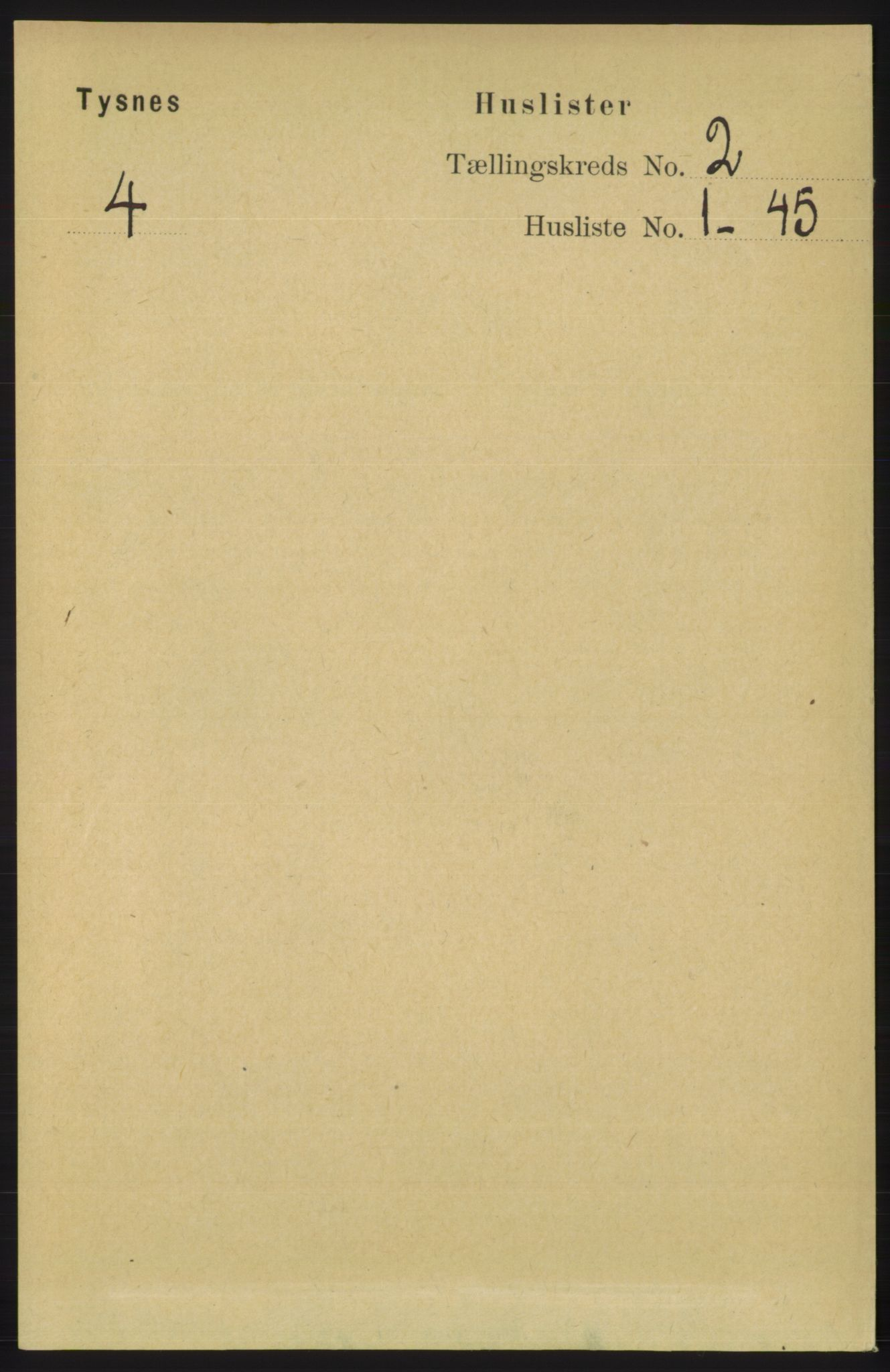 RA, Folketelling 1891 for 1223 Tysnes herred, 1891, s. 398