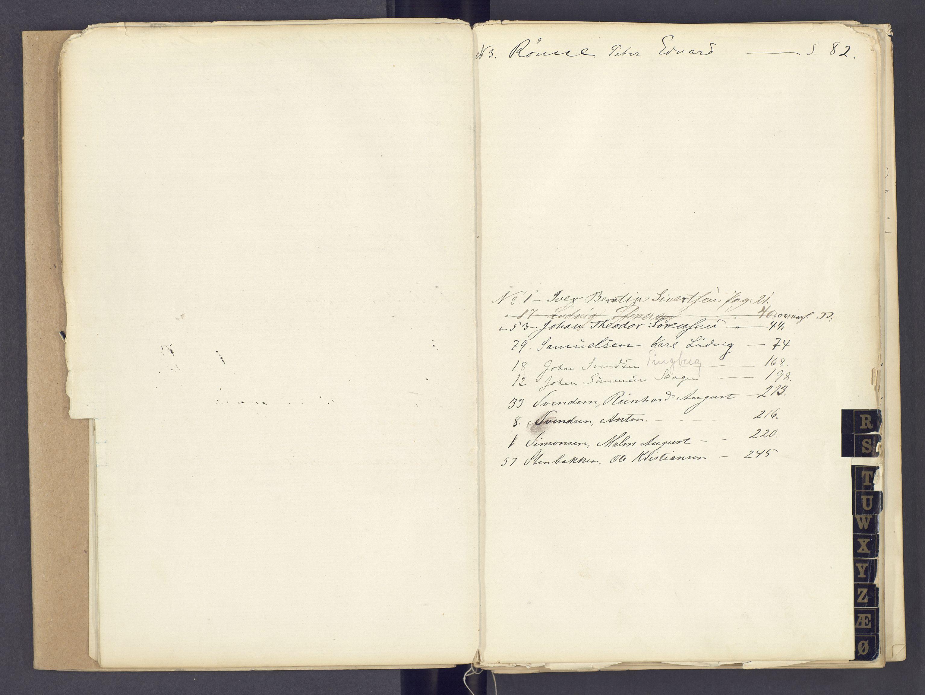 SAH, Toftes Gave, F/Fc/L0002: Elevprotokoll, 1870-1885, s. upaginert