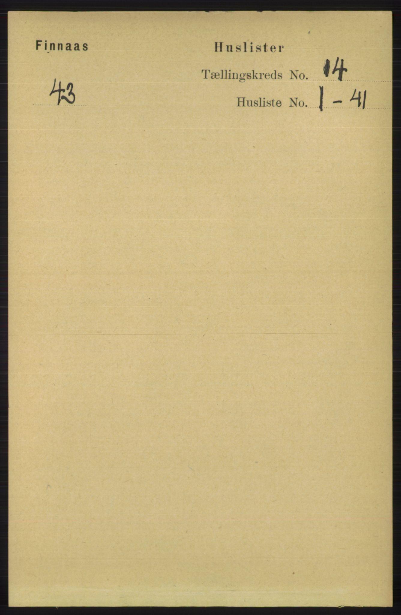 RA, Folketelling 1891 for 1218 Finnås herred, 1891, s. 5661