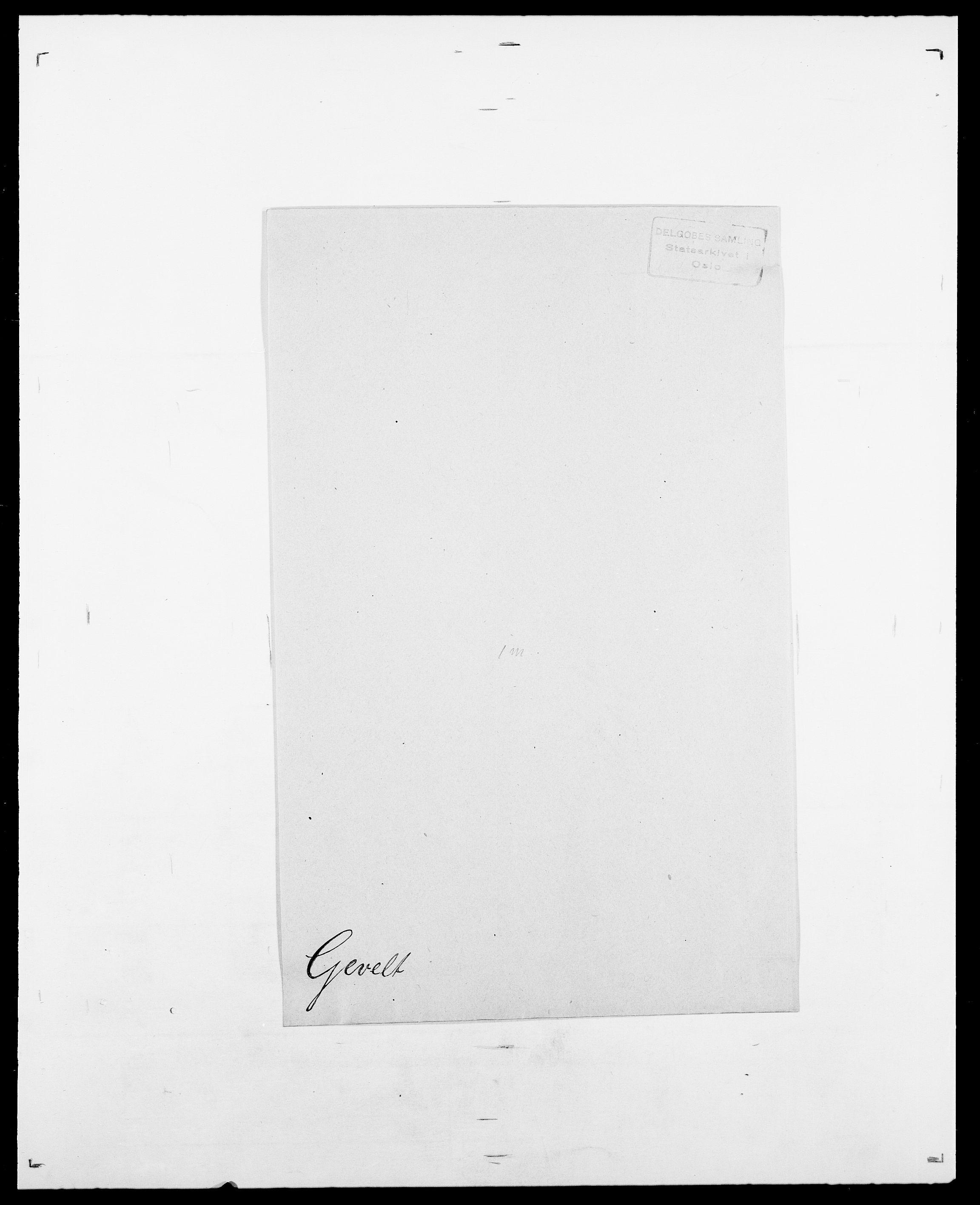 SAO, Delgobe, Charles Antoine - samling, D/Da/L0013: Forbos - Geving, s. 674