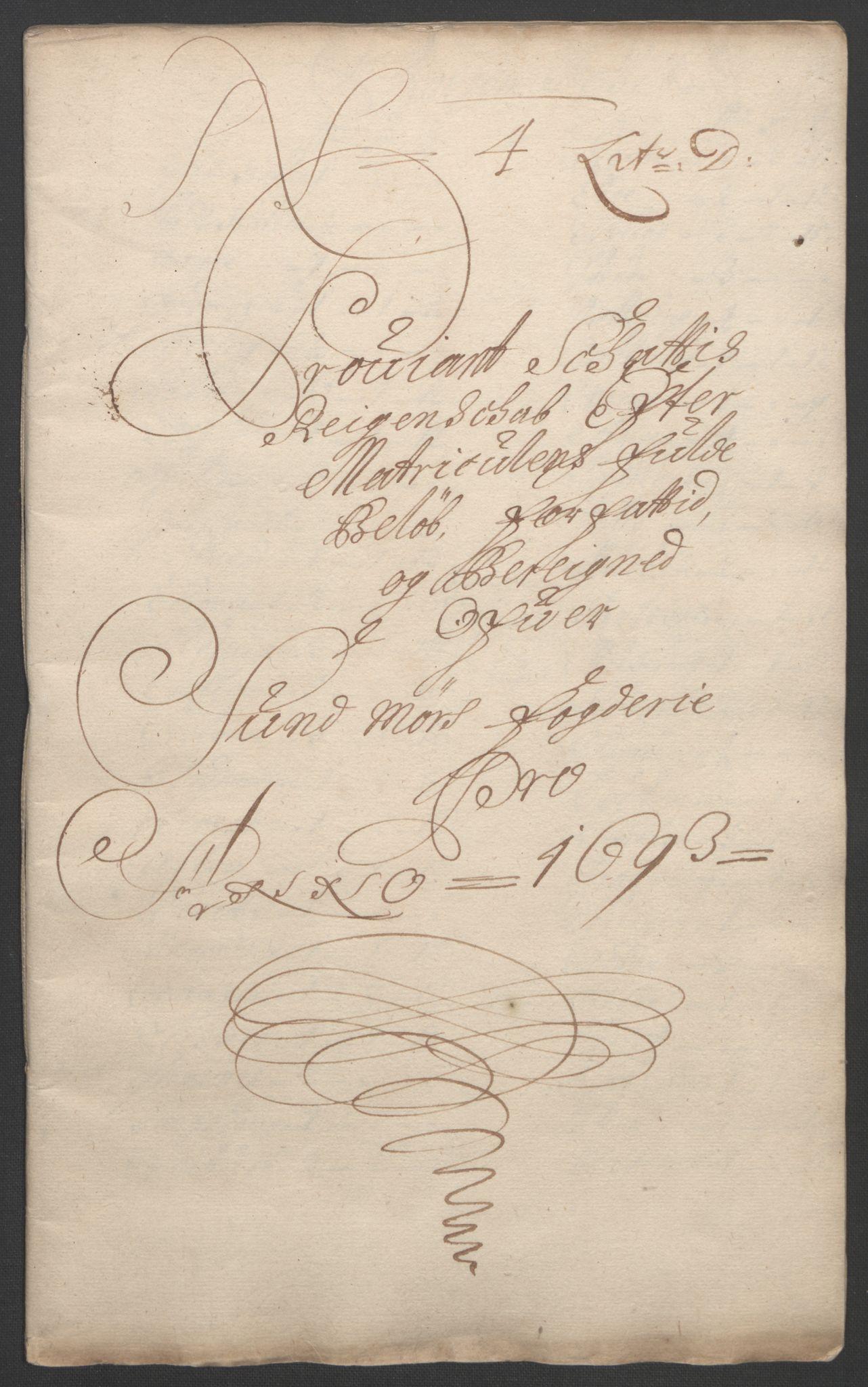 RA, Rentekammeret inntil 1814, Reviderte regnskaper, Fogderegnskap, R54/L3554: Fogderegnskap Sunnmøre, 1691-1693, s. 425