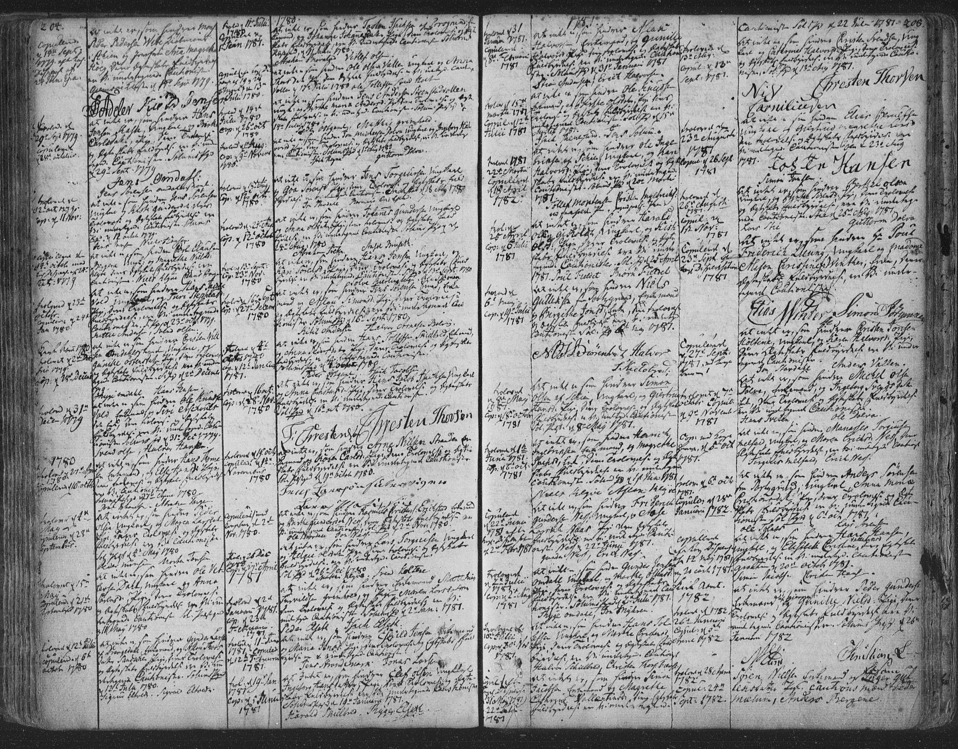 SAKO, Solum kirkebøker, F/Fa/L0003: Ministerialbok nr. I 3, 1761-1814, s. 204-205