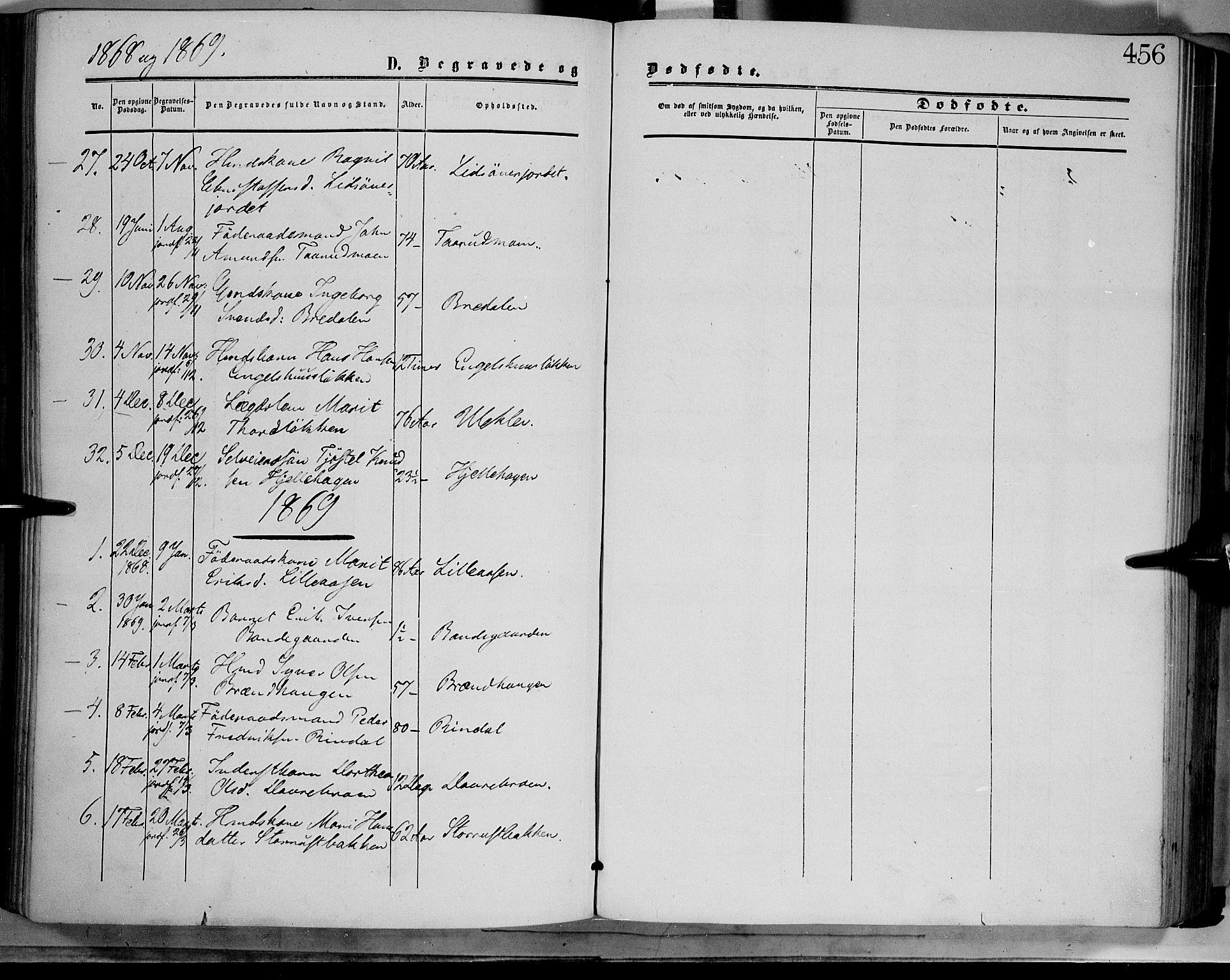 SAH, Dovre prestekontor, Ministerialbok nr. 1, 1854-1878, s. 456