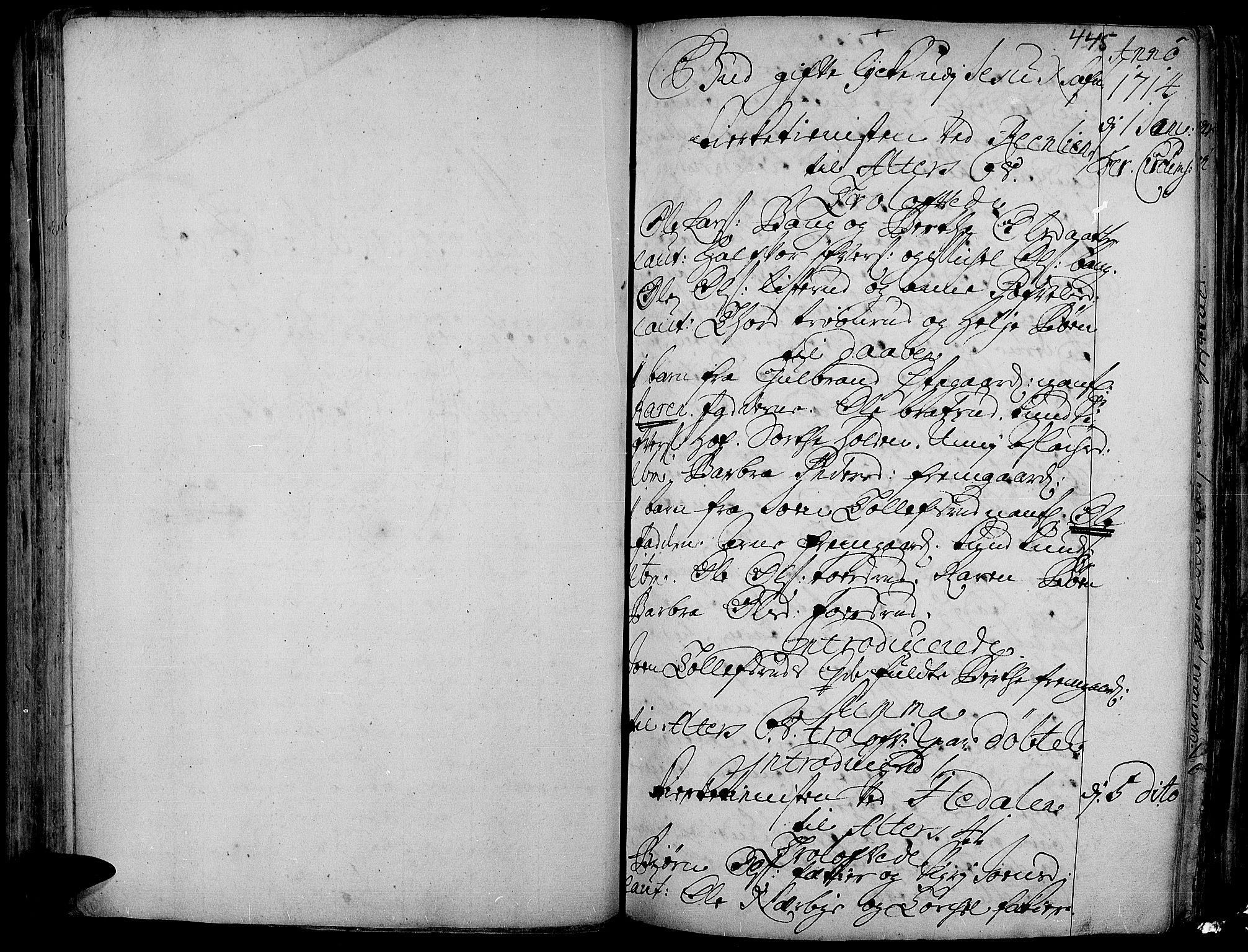SAH, Aurdal prestekontor, Ministerialbok nr. 1-3, 1692-1730, s. 445