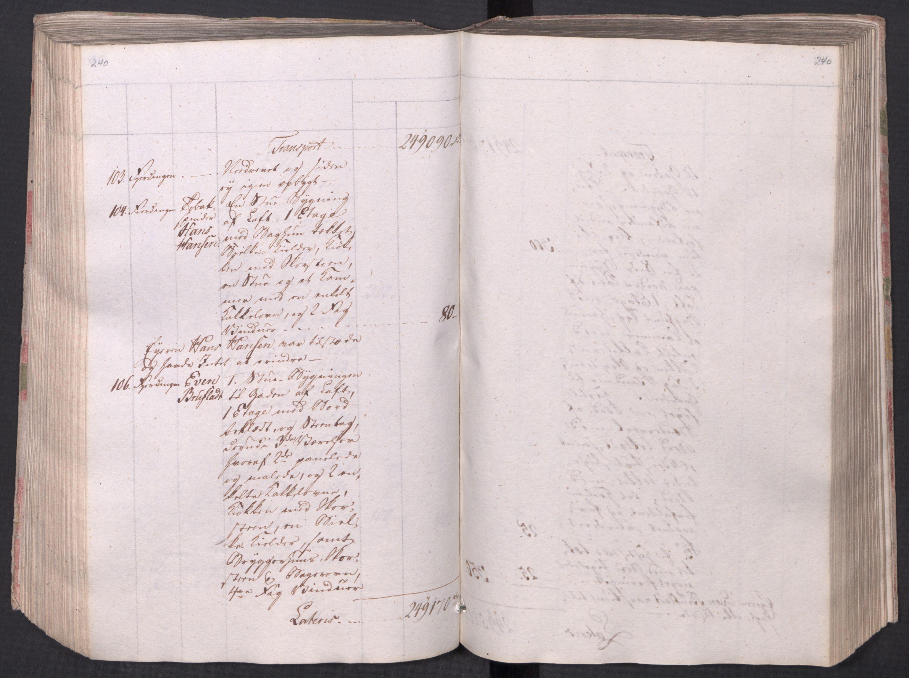 SAO, Kristiania stiftamt, I/Ia/L0015: Branntakster, 1797, s. 240
