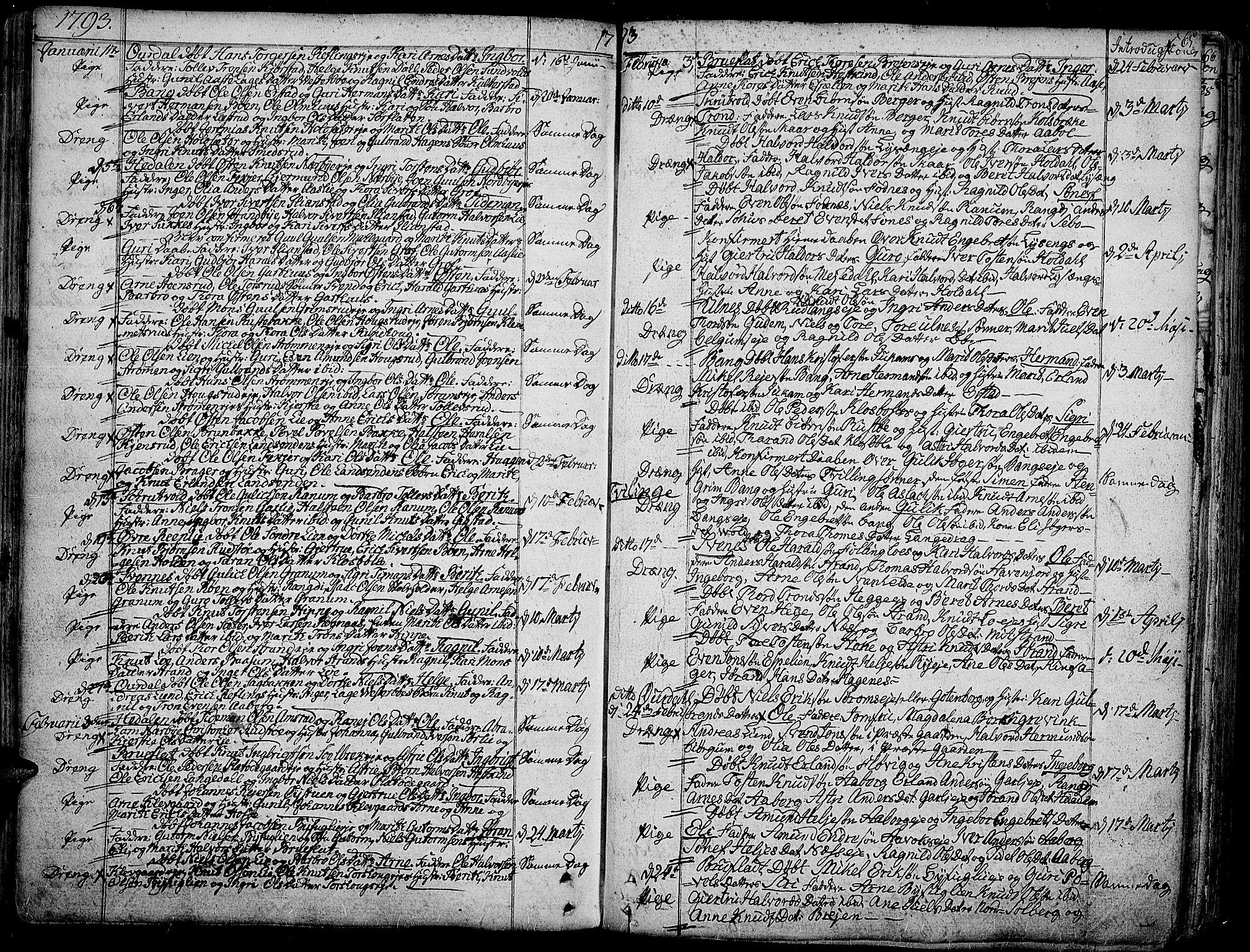 SAH, Aurdal prestekontor, Ministerialbok nr. 6, 1781-1804, s. 65