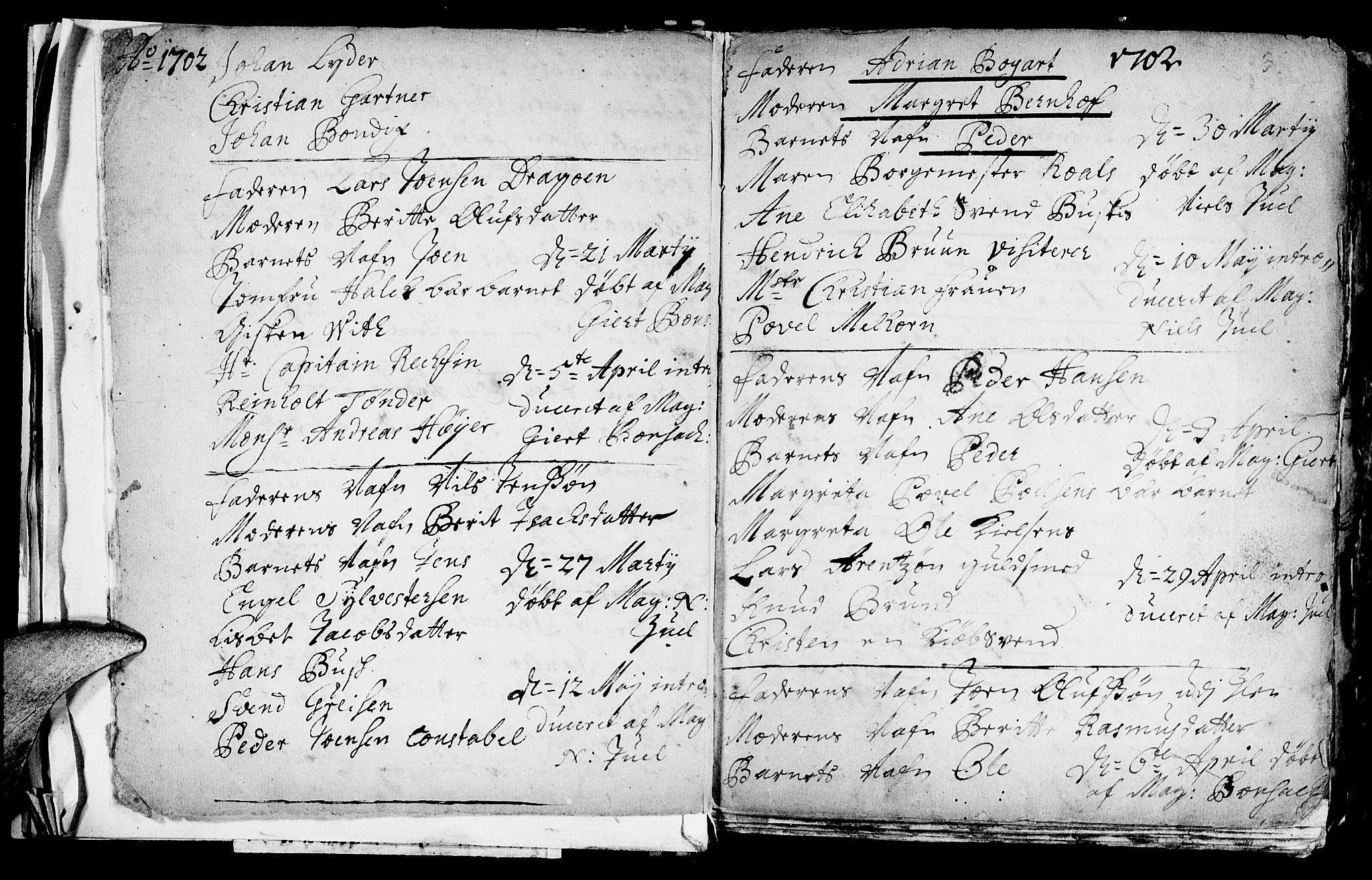 SAT, Ministerialprotokoller, klokkerbøker og fødselsregistre - Sør-Trøndelag, 601/L0034: Ministerialbok nr. 601A02, 1702-1714, s. 3