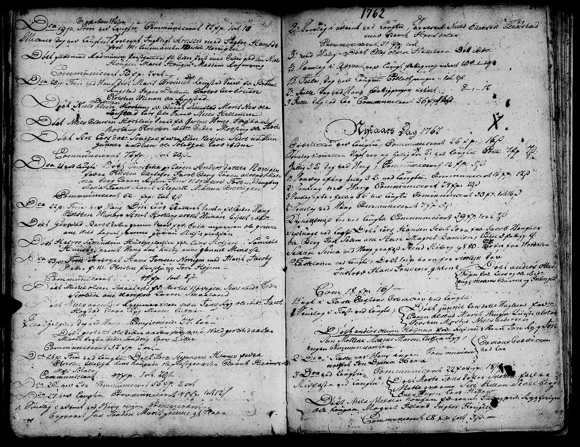 SAT, Ministerialprotokoller, klokkerbøker og fødselsregistre - Nord-Trøndelag, 713/L0109: Ministerialbok nr. 713A01, 1750-1778, s. 64-65