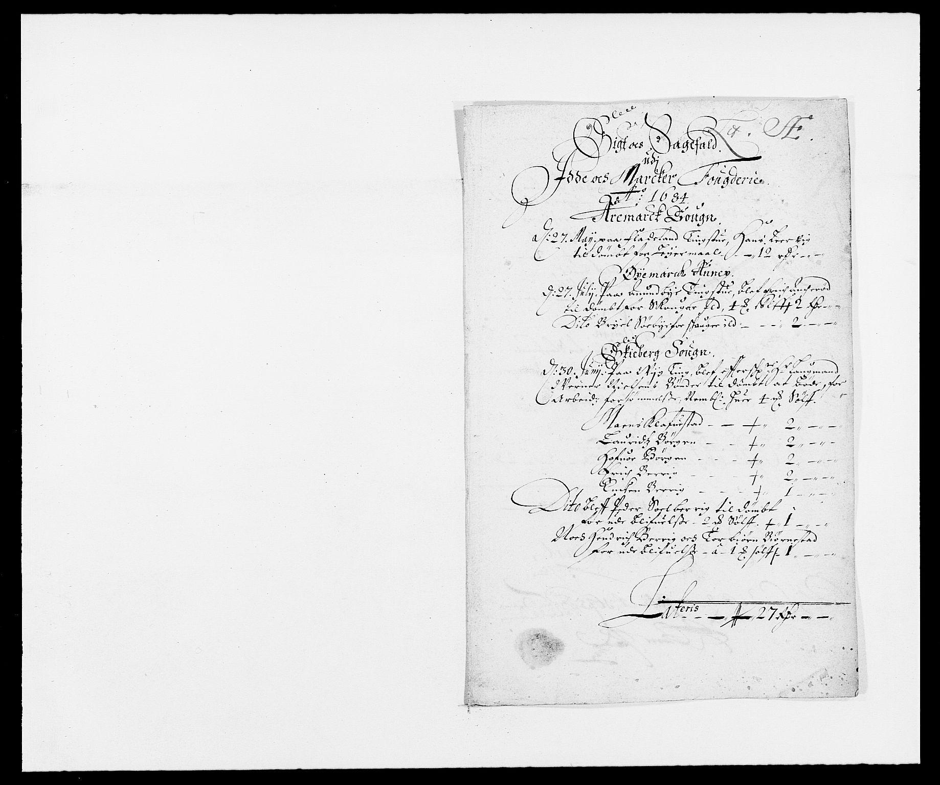 RA, Rentekammeret inntil 1814, Reviderte regnskaper, Fogderegnskap, R01/L0005: Fogderegnskap Idd og Marker , 1682-1684, s. 67