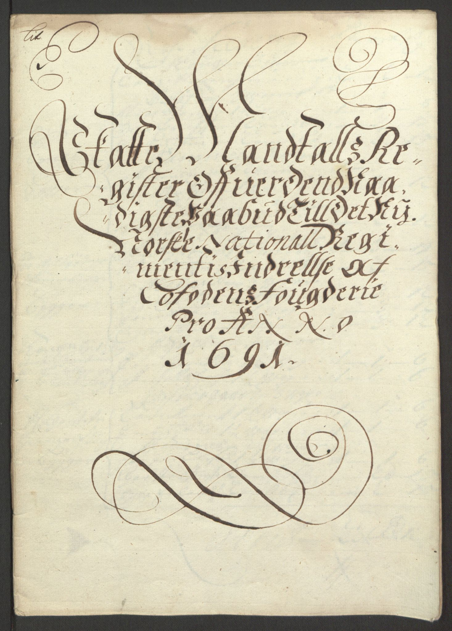 RA, Rentekammeret inntil 1814, Reviderte regnskaper, Fogderegnskap, R67/L4675: Fogderegnskap Vesterålen, Andenes og Lofoten, 1691-1693, s. 42