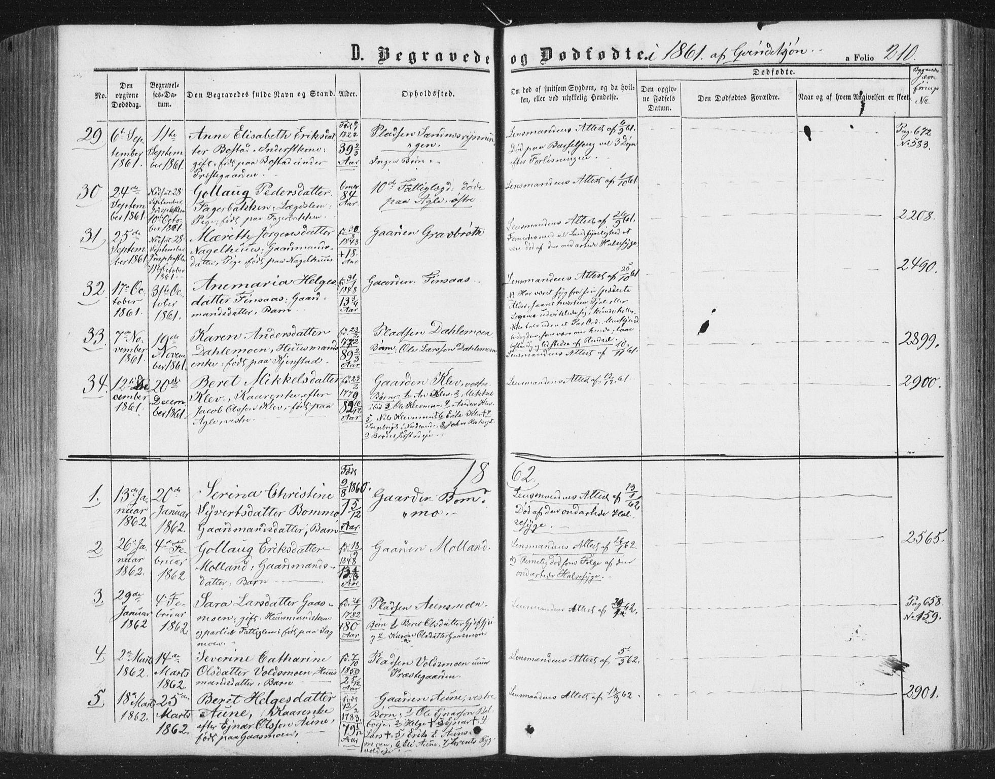 SAT, Ministerialprotokoller, klokkerbøker og fødselsregistre - Nord-Trøndelag, 749/L0472: Ministerialbok nr. 749A06, 1857-1873, s. 210