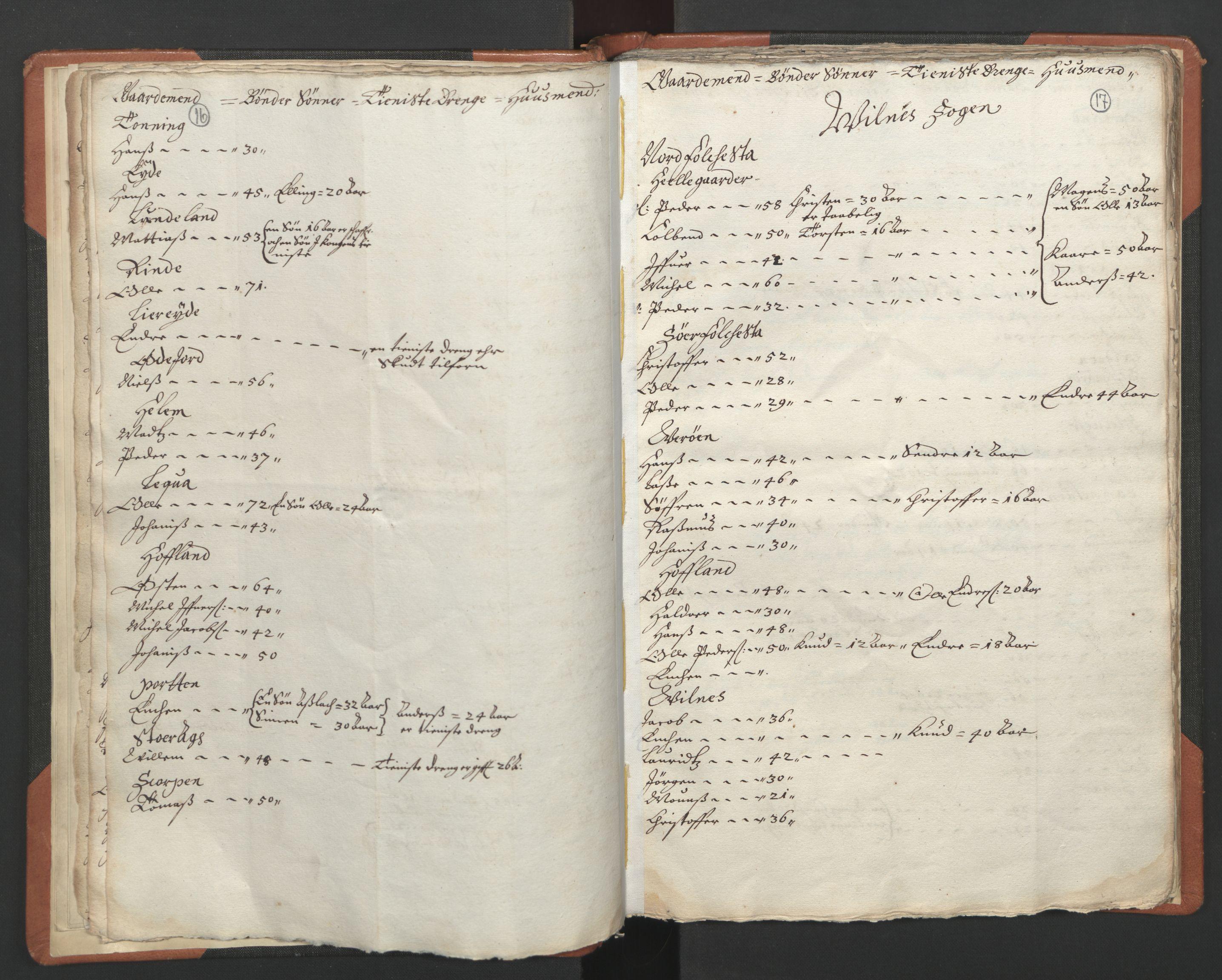 RA, Sogneprestenes manntall 1664-1666, nr. 24: Sunnfjord prosti, 1664-1666, s. 16-17