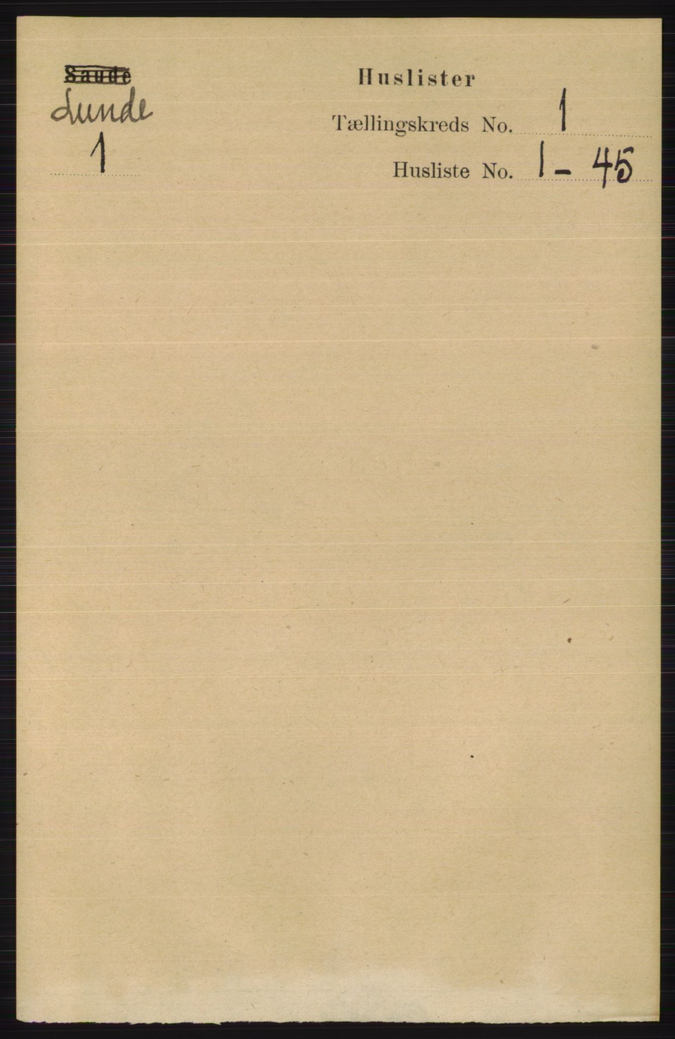 RA, Folketelling 1891 for 0820 Lunde herred, 1891, s. 26