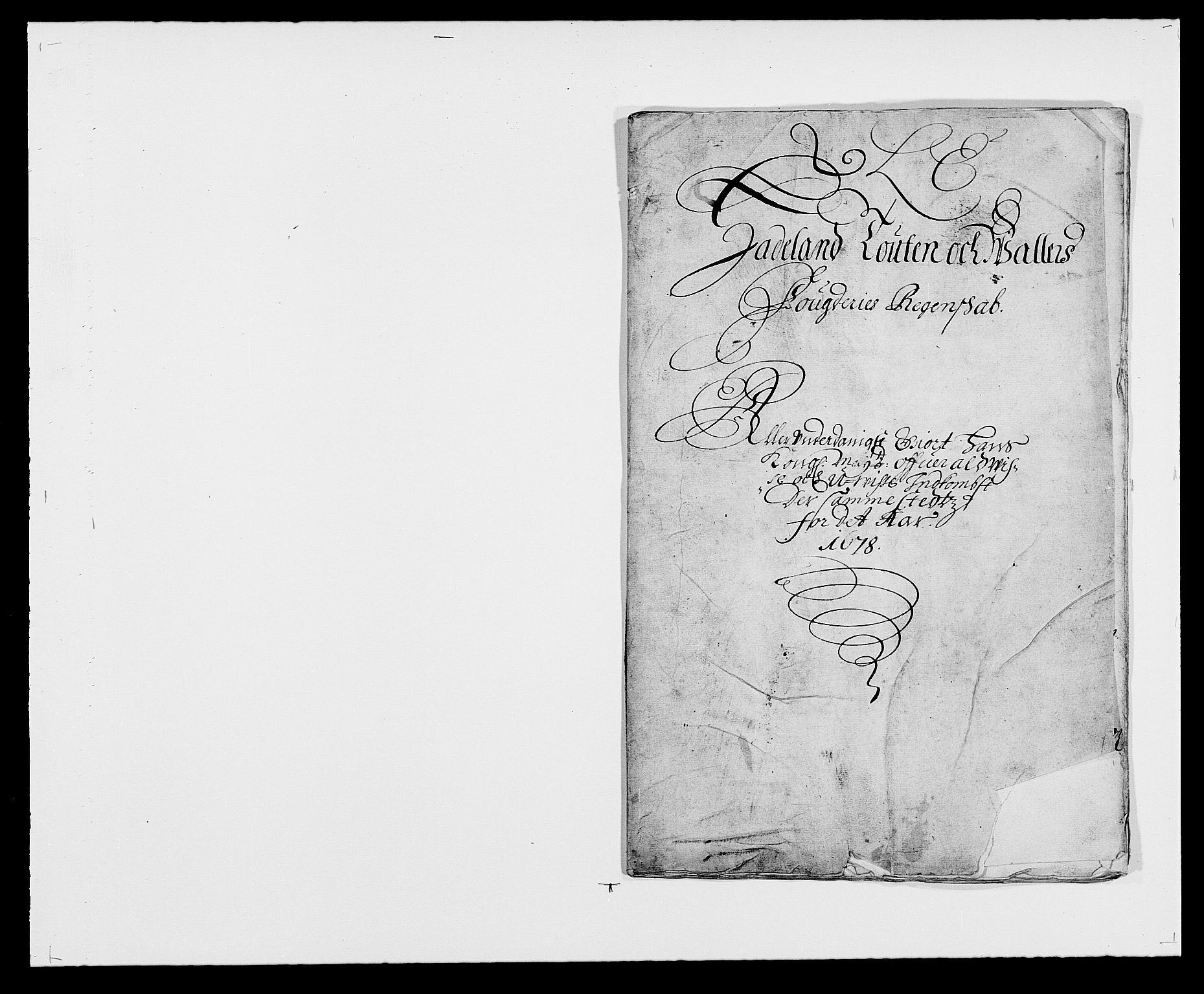 RA, Rentekammeret inntil 1814, Reviderte regnskaper, Fogderegnskap, R18/L1270: Fogderegnskap Hadeland, Toten og Valdres, 1678, s. 1