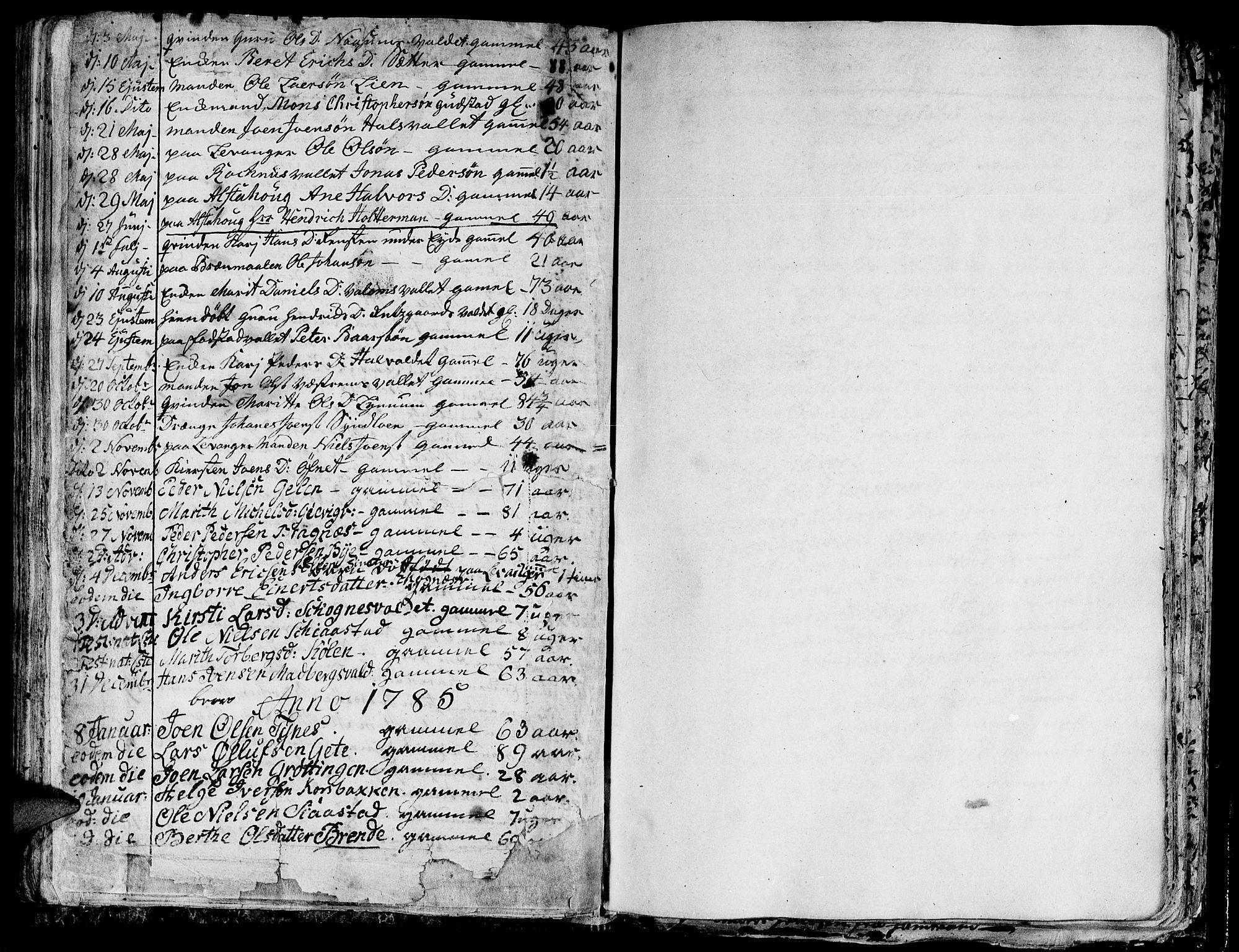 SAT, Ministerialprotokoller, klokkerbøker og fødselsregistre - Nord-Trøndelag, 717/L0142: Ministerialbok nr. 717A02 /1, 1783-1809, s. 105