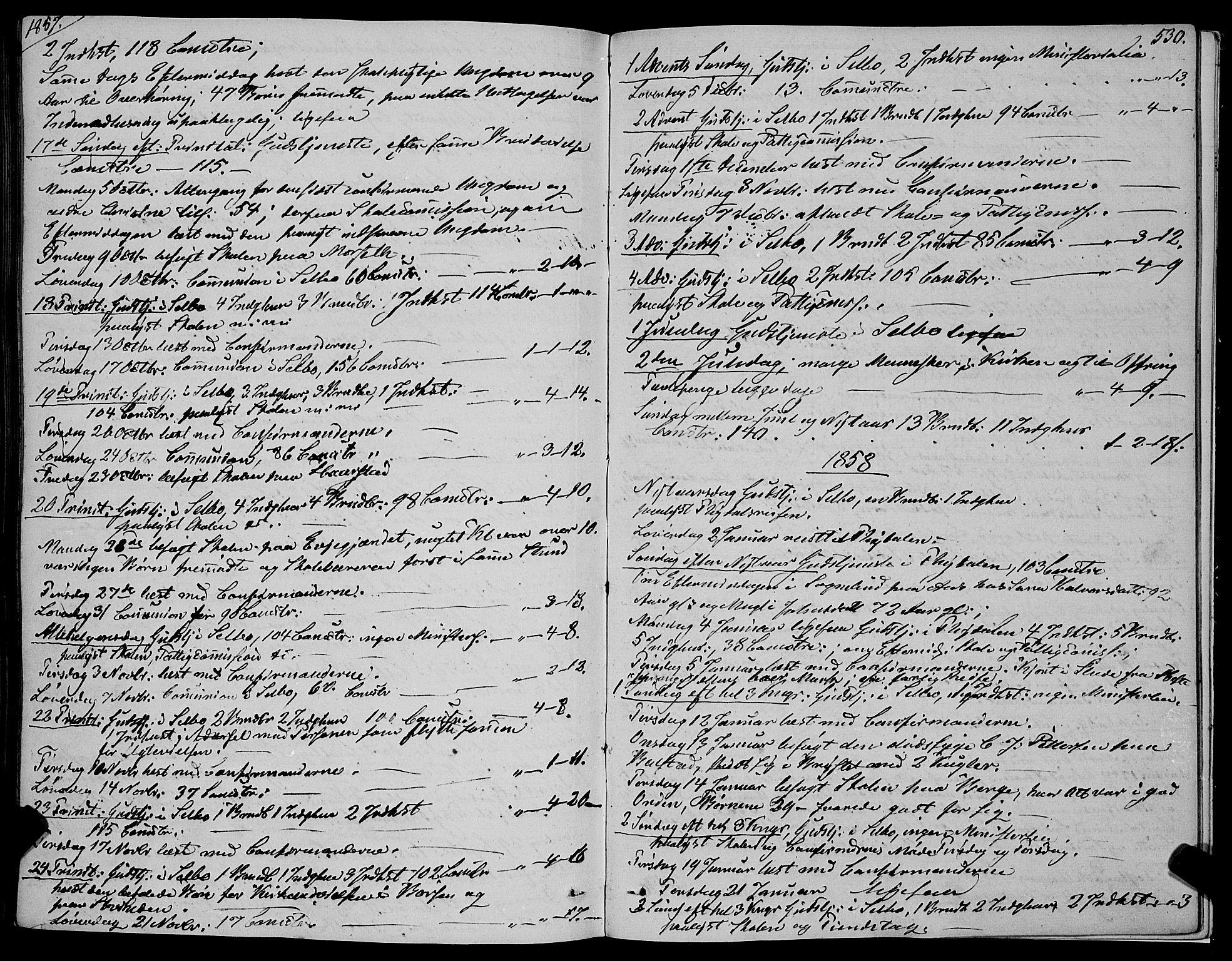 SAT, Ministerialprotokoller, klokkerbøker og fødselsregistre - Sør-Trøndelag, 695/L1145: Ministerialbok nr. 695A06 /1, 1843-1859, s. 530
