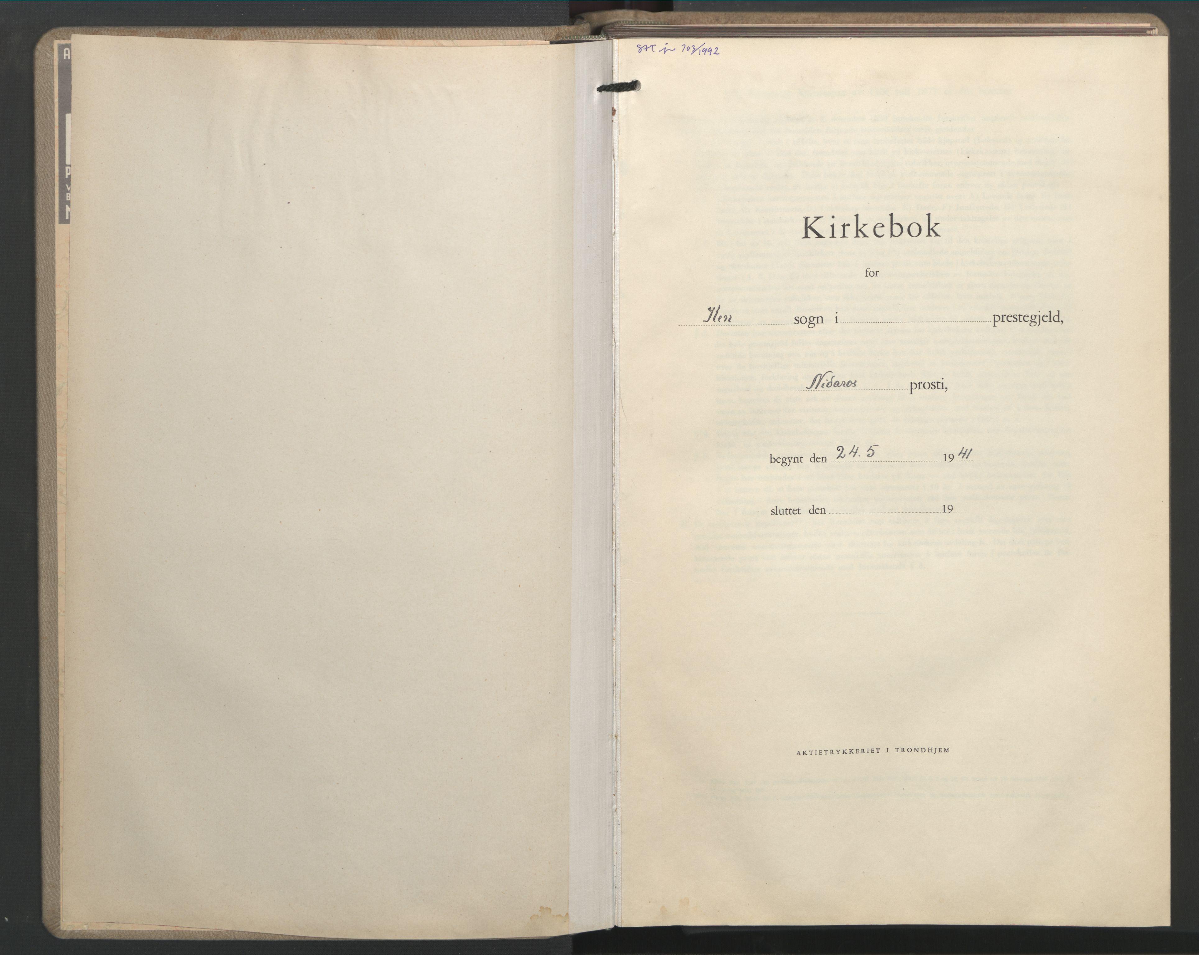 SAT, Ministerialprotokoller, klokkerbøker og fødselsregistre - Sør-Trøndelag, 603/L0177: Klokkerbok nr. 603C05, 1941-1952