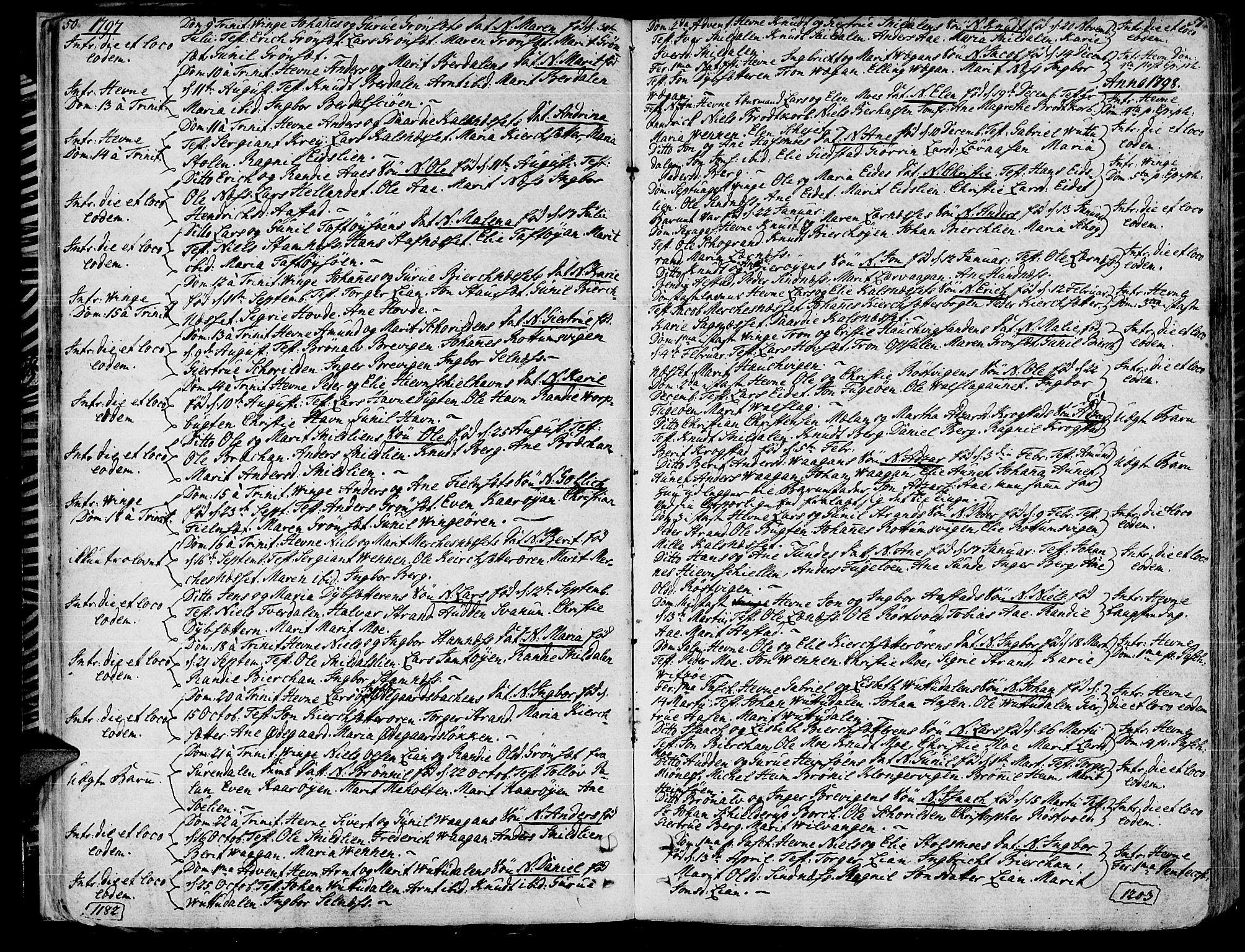 SAT, Ministerialprotokoller, klokkerbøker og fødselsregistre - Sør-Trøndelag, 630/L0490: Ministerialbok nr. 630A03, 1795-1818, s. 50-51
