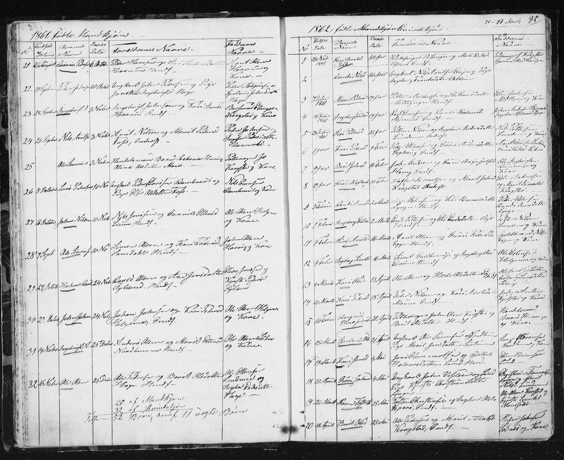 SAT, Ministerialprotokoller, klokkerbøker og fødselsregistre - Sør-Trøndelag, 692/L1110: Klokkerbok nr. 692C05, 1849-1889, s. 85