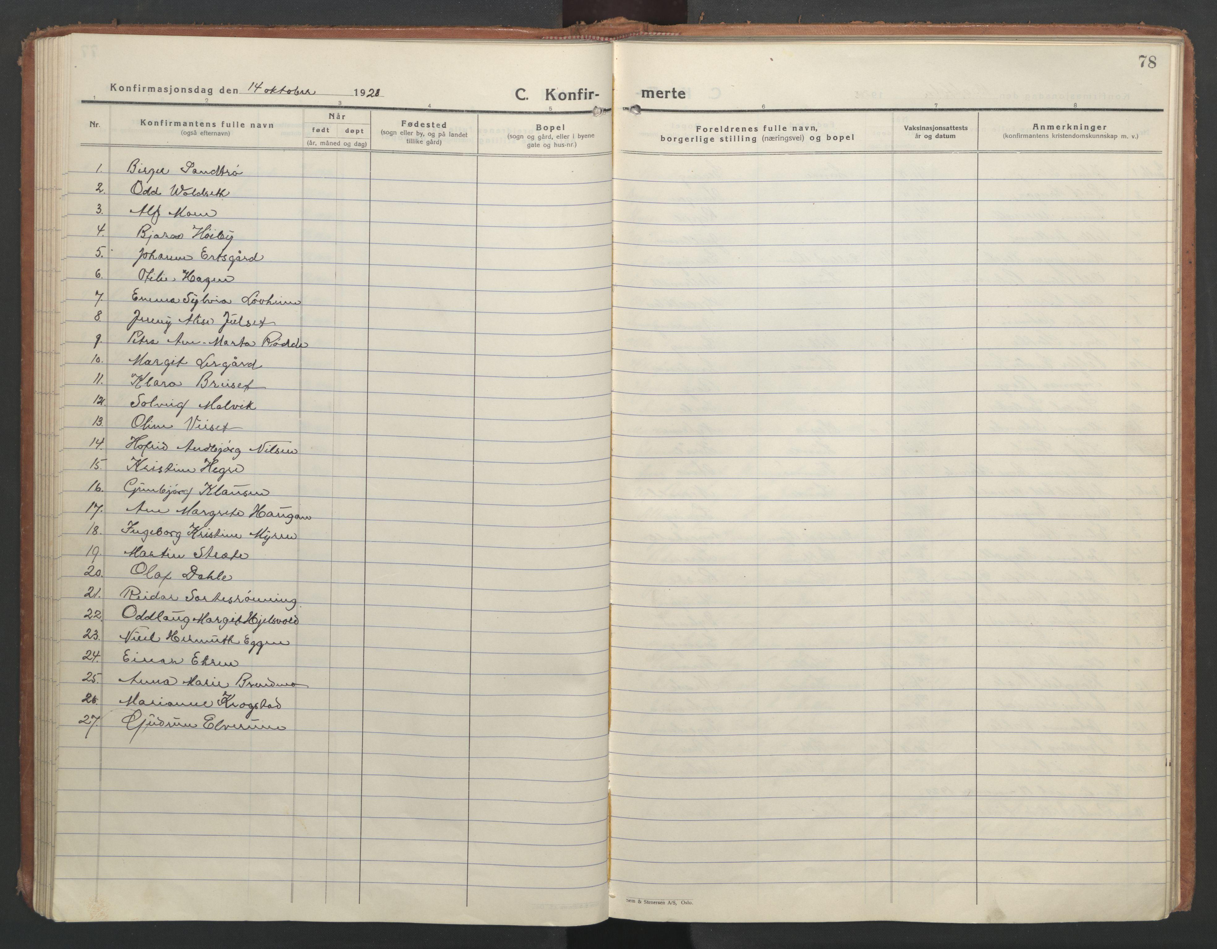 SAT, Ministerialprotokoller, klokkerbøker og fødselsregistre - Nord-Trøndelag, 710/L0097: Klokkerbok nr. 710C02, 1925-1955, s. 78