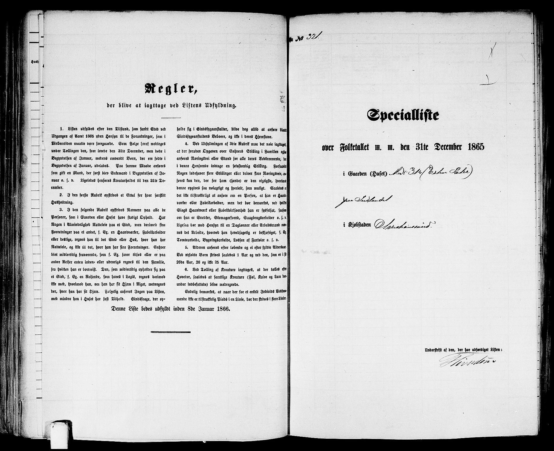 RA, Folketelling 1865 for 1503B Kristiansund prestegjeld, Kristiansund kjøpstad, 1865, s. 655