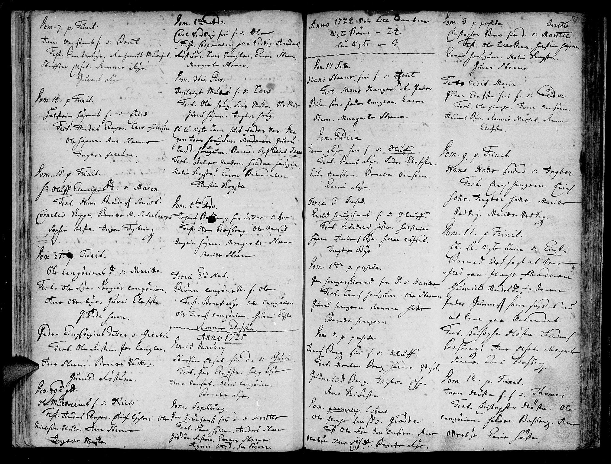 SAT, Ministerialprotokoller, klokkerbøker og fødselsregistre - Sør-Trøndelag, 612/L0368: Ministerialbok nr. 612A02, 1702-1753, s. 21