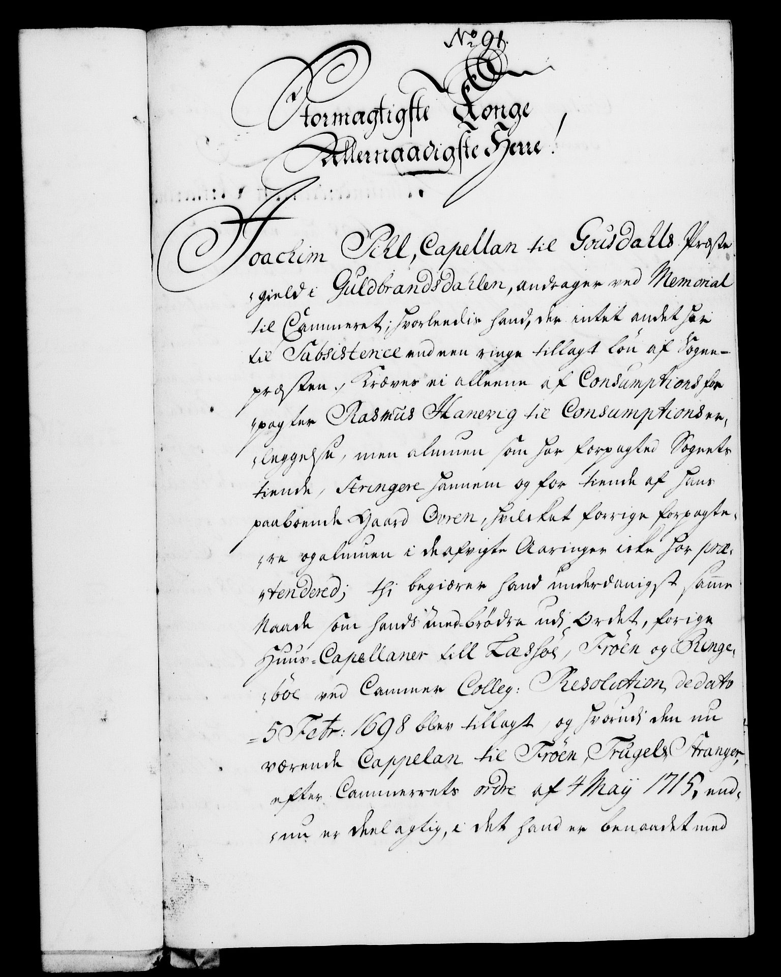 RA, Rentekammeret, Kammerkanselliet, G/Gf/Gfa/L0004: Norsk relasjons- og resolusjonsprotokoll (merket RK 52.4), 1721, s. 707