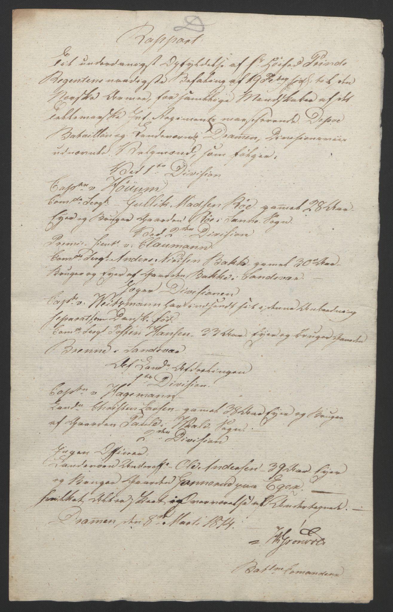 RA, Statsrådssekretariatet, D/Db/L0007: Fullmakter for Eidsvollsrepresentantene i 1814. , 1814, s. 105