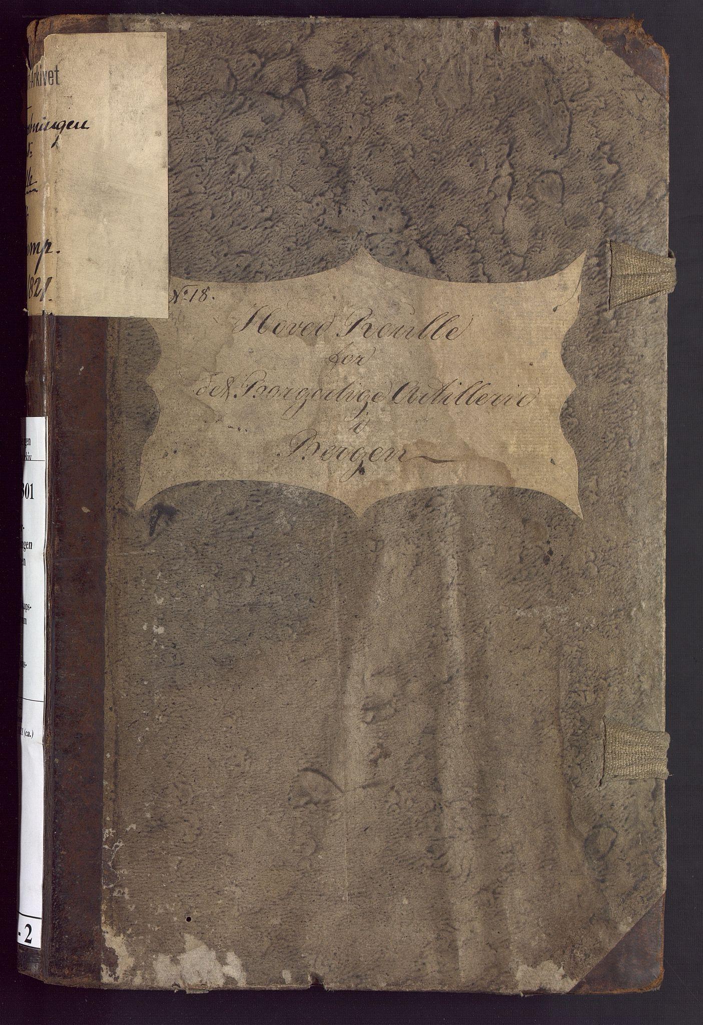 BBA, Borgervæpningen i Bergen, G/Gd/L0002: Artilleriet, 1814-1821