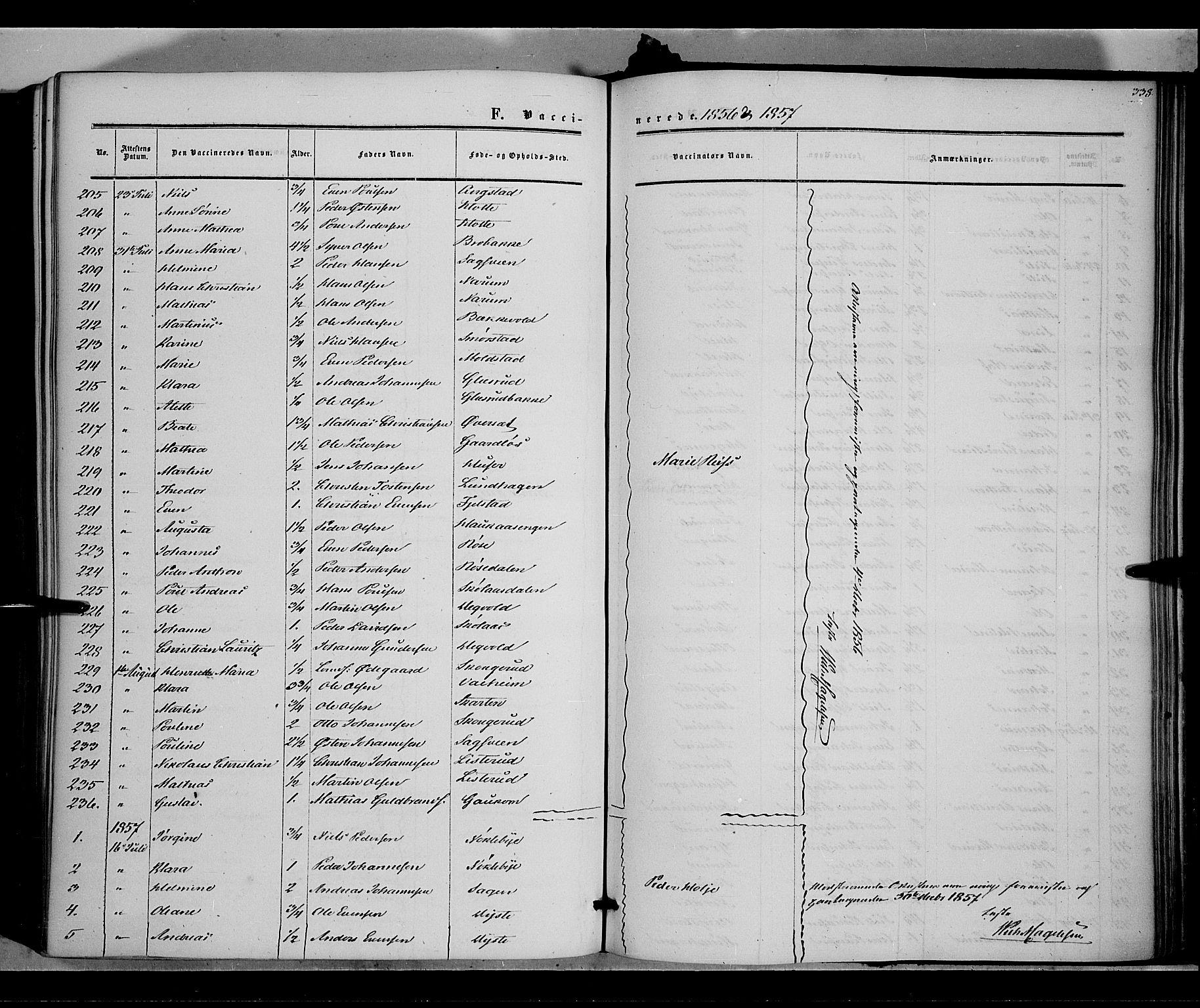 SAH, Vestre Toten prestekontor, H/Ha/Haa/L0006: Ministerialbok nr. 6, 1856-1861, s. 338