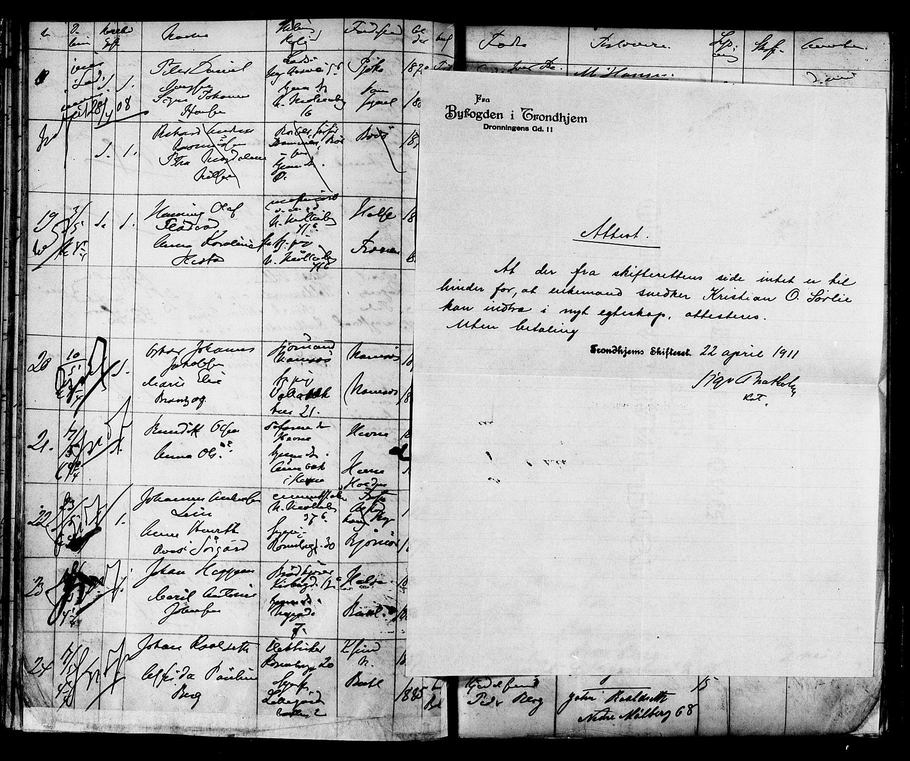 SAT, Ministerialprotokoller, klokkerbøker og fødselsregistre - Sør-Trøndelag, 604/L0193: Lysningsprotokoll nr. 604A14, 1906-1912