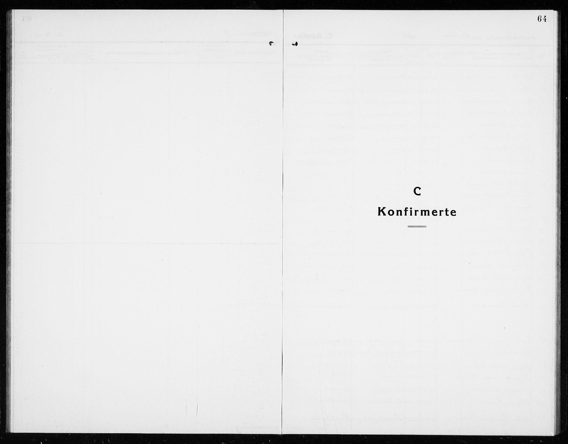 SAKO, Hole kirkebøker, G/Ga/L0005: Klokkerbok nr. I 5, 1924-1938, s. 64