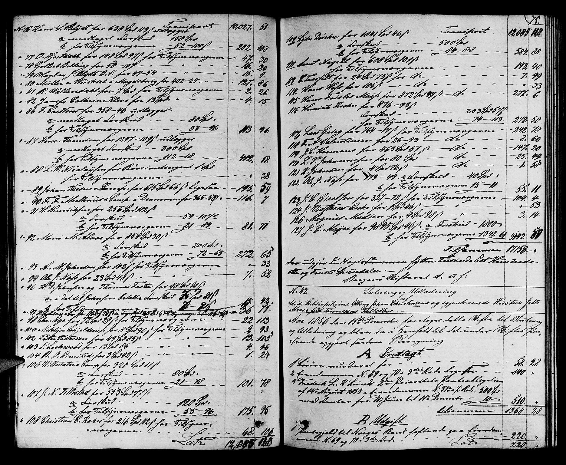 SAB, Byfogd og Byskriver i Bergen, 06/06C/L0011: Skifteprotokoller, 1855-1860, s. 74b-75a