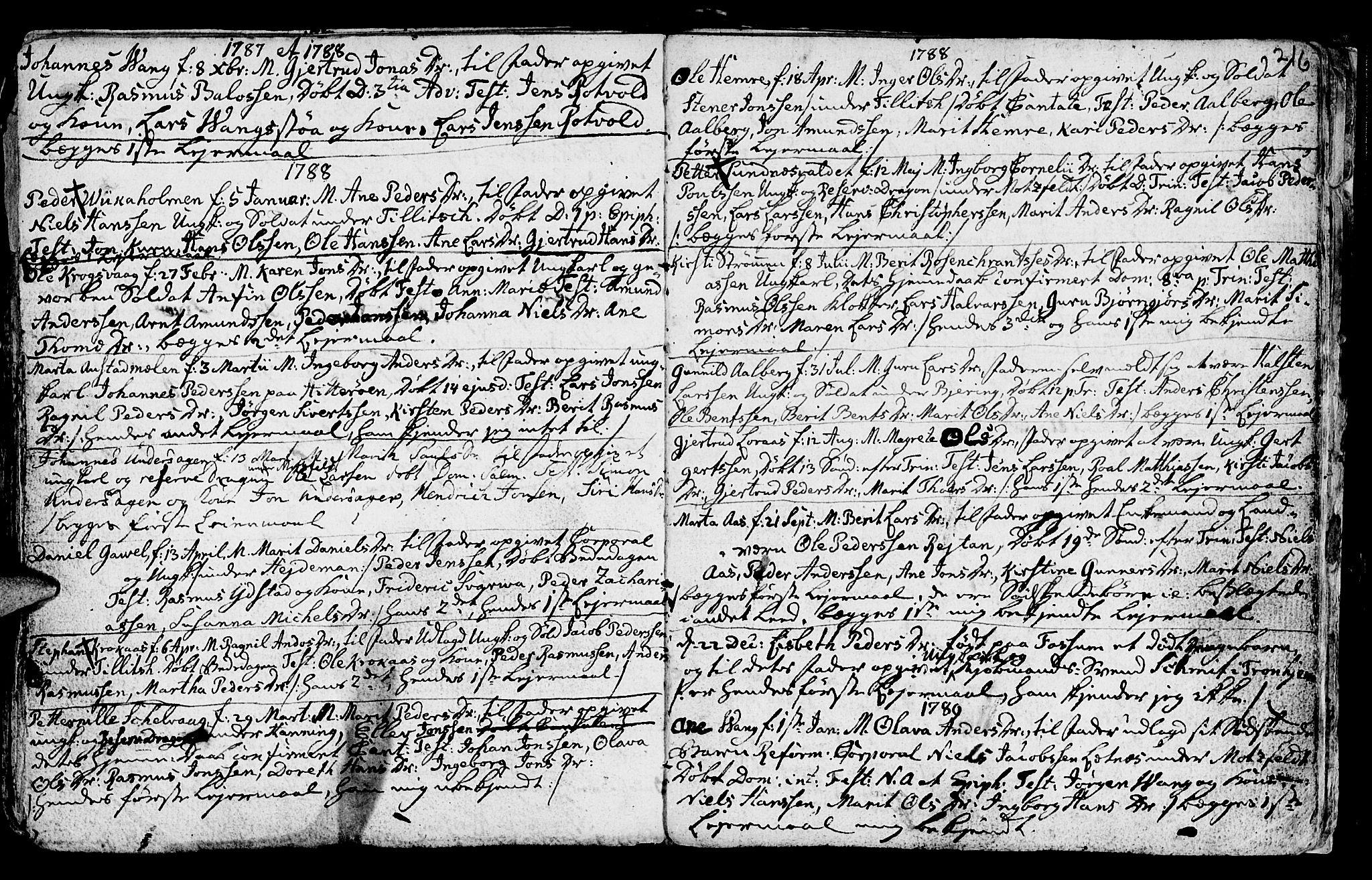 SAT, Ministerialprotokoller, klokkerbøker og fødselsregistre - Nord-Trøndelag, 730/L0273: Ministerialbok nr. 730A02, 1762-1802, s. 216