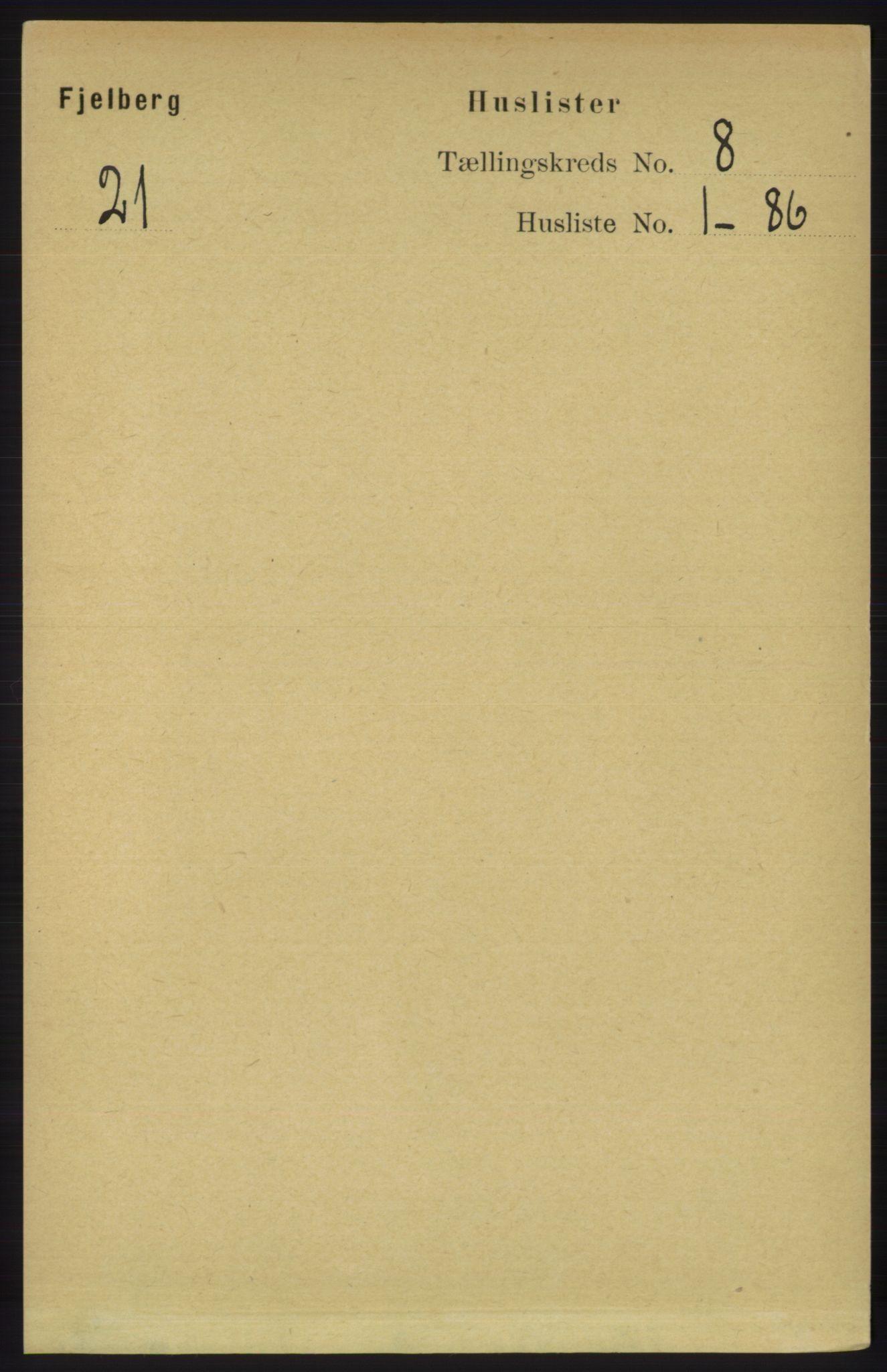 RA, Folketelling 1891 for 1213 Fjelberg herred, 1891, s. 2868