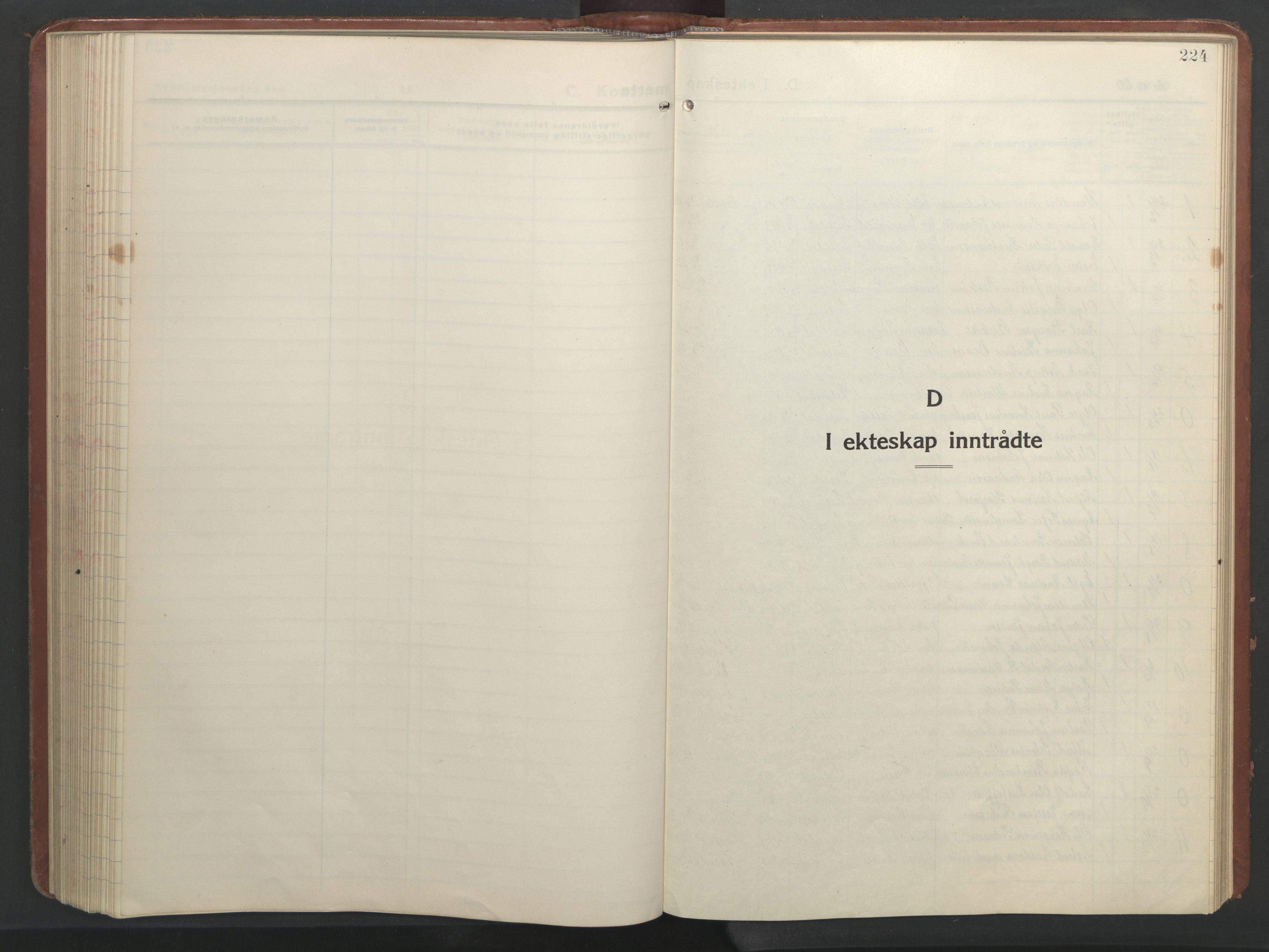 SAT, Ministerialprotokoller, klokkerbøker og fødselsregistre - Nordland, 847/L0680: Klokkerbok nr. 847C08, 1930-1947, s. 224