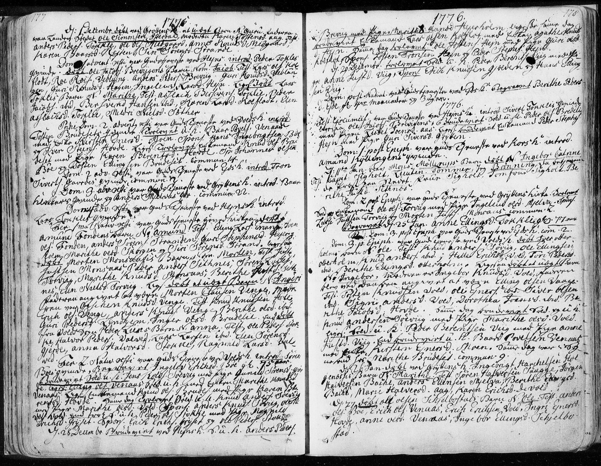 SAT, Ministerialprotokoller, klokkerbøker og fødselsregistre - Møre og Romsdal, 544/L0569: Ministerialbok nr. 544A02, 1764-1806, s. 177-178