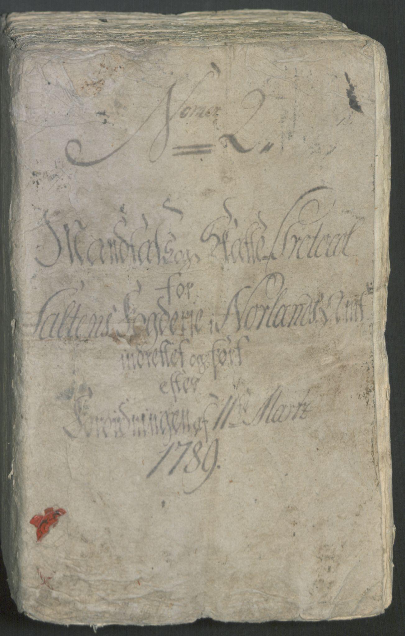 RA, Rentekammeret inntil 1814, Reviderte regnskaper, Mindre regnskaper, Rf/Rfe/L0041: Salten fogderi, 1789, s. 2