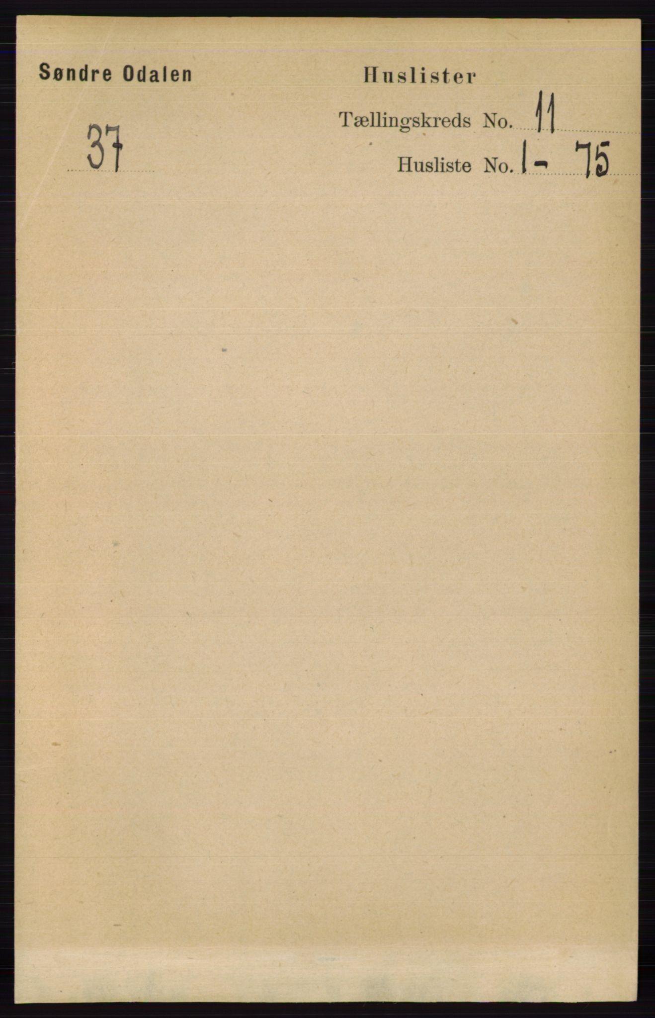 RA, Folketelling 1891 for 0419 Sør-Odal herred, 1891, s. 4826
