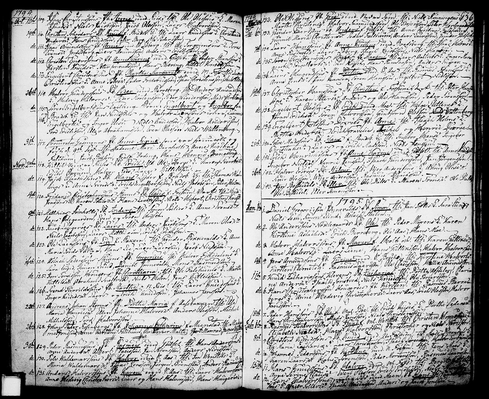 SAKO, Gjerpen kirkebøker, F/Fa/L0002: Ministerialbok nr. 2, 1747-1795, s. 136
