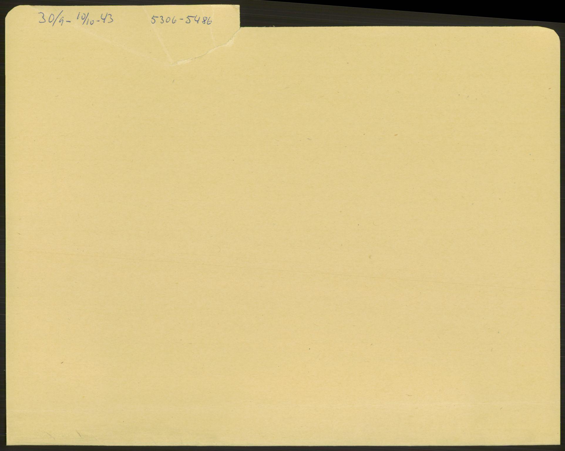 RA, Befehlshaber der Sicherheitspolizei und des SD, E/Ea/Eae/L0002: Einlieferungsschein 5110-5800, 1943