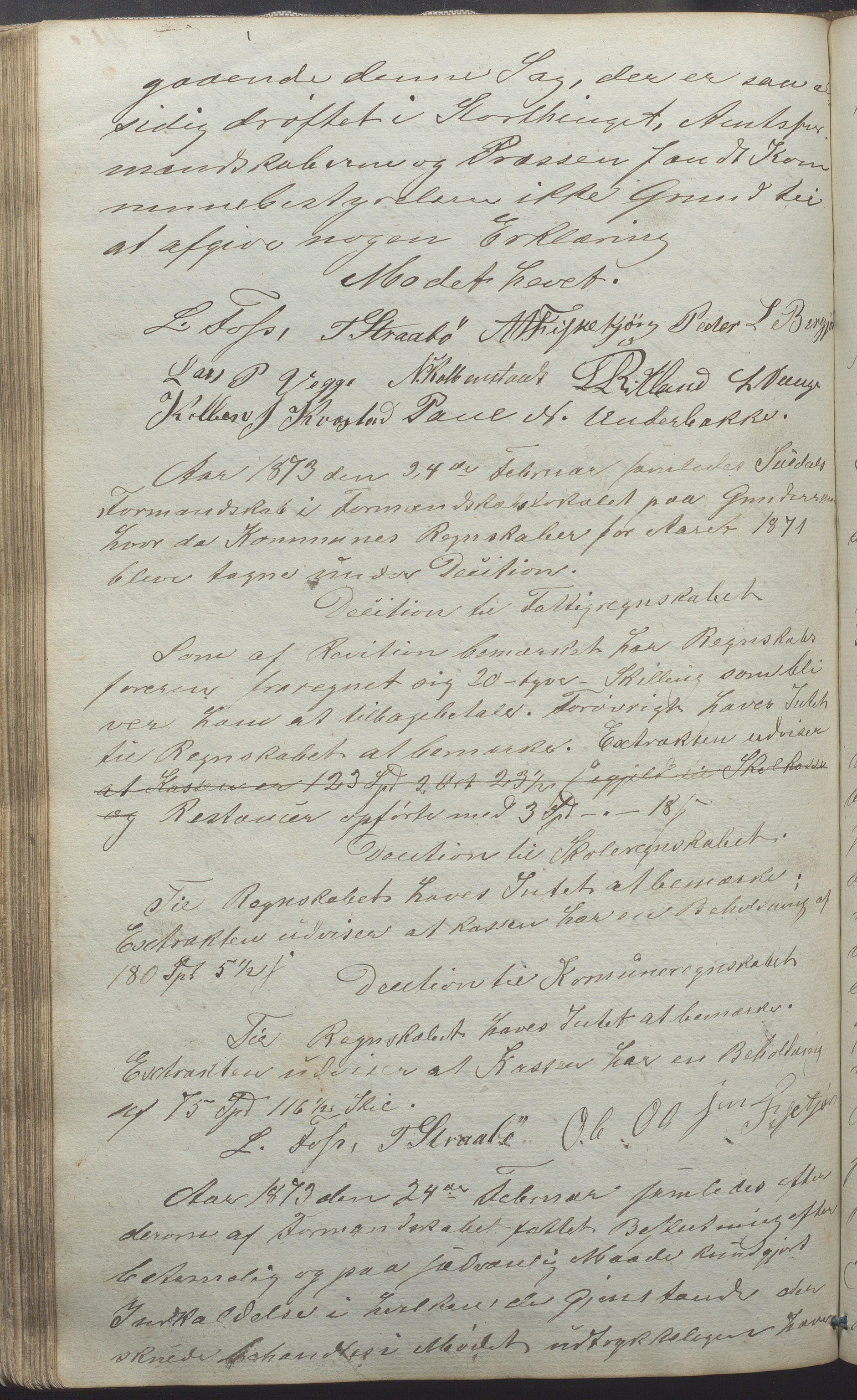 IKAR, Suldal kommune - Formannskapet/Rådmannen, A/Aa/L0001: Møtebok, 1837-1876, s. 206b