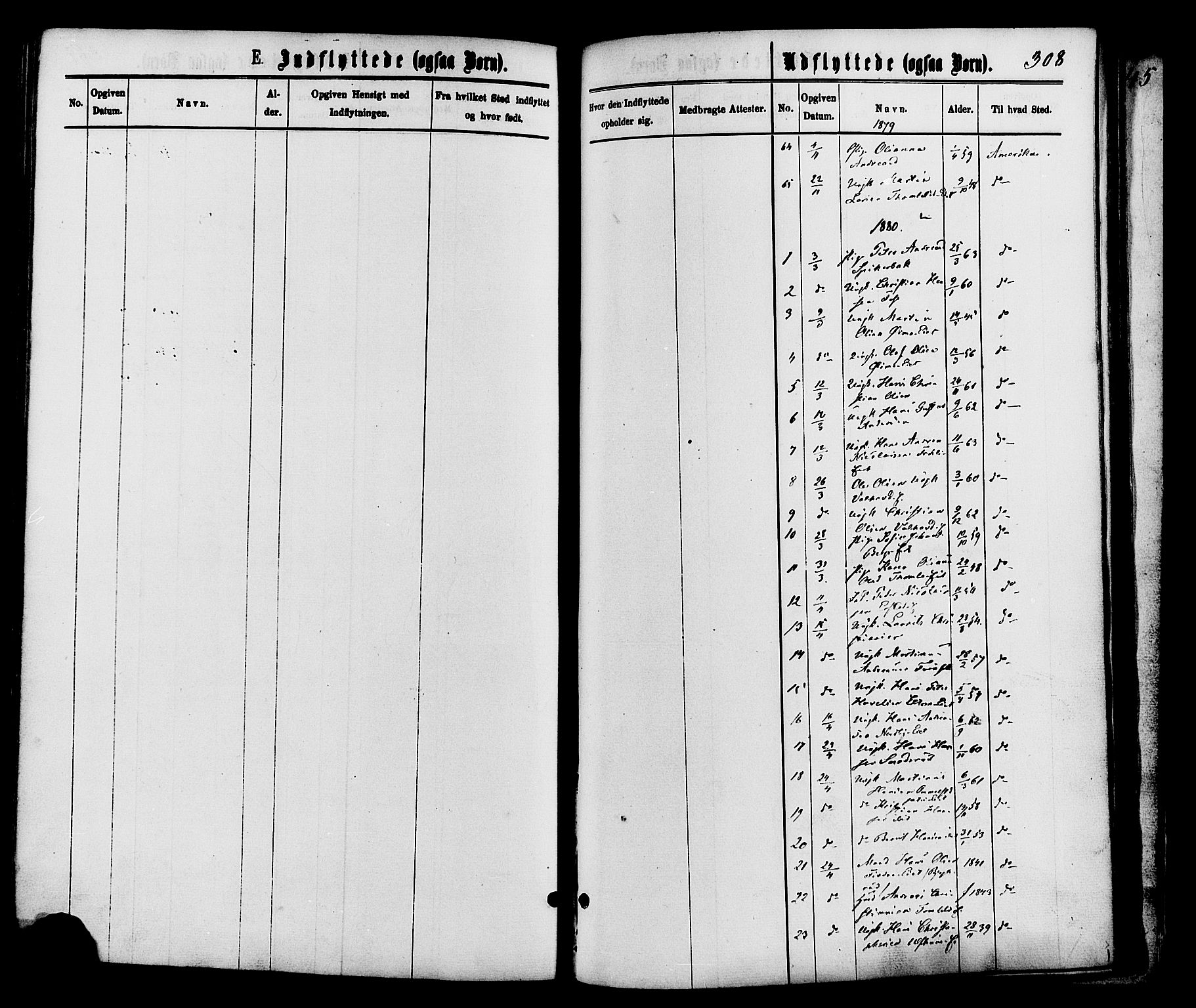 SAH, Nordre Land prestekontor, Ministerialbok nr. 2, 1872-1881, s. 308