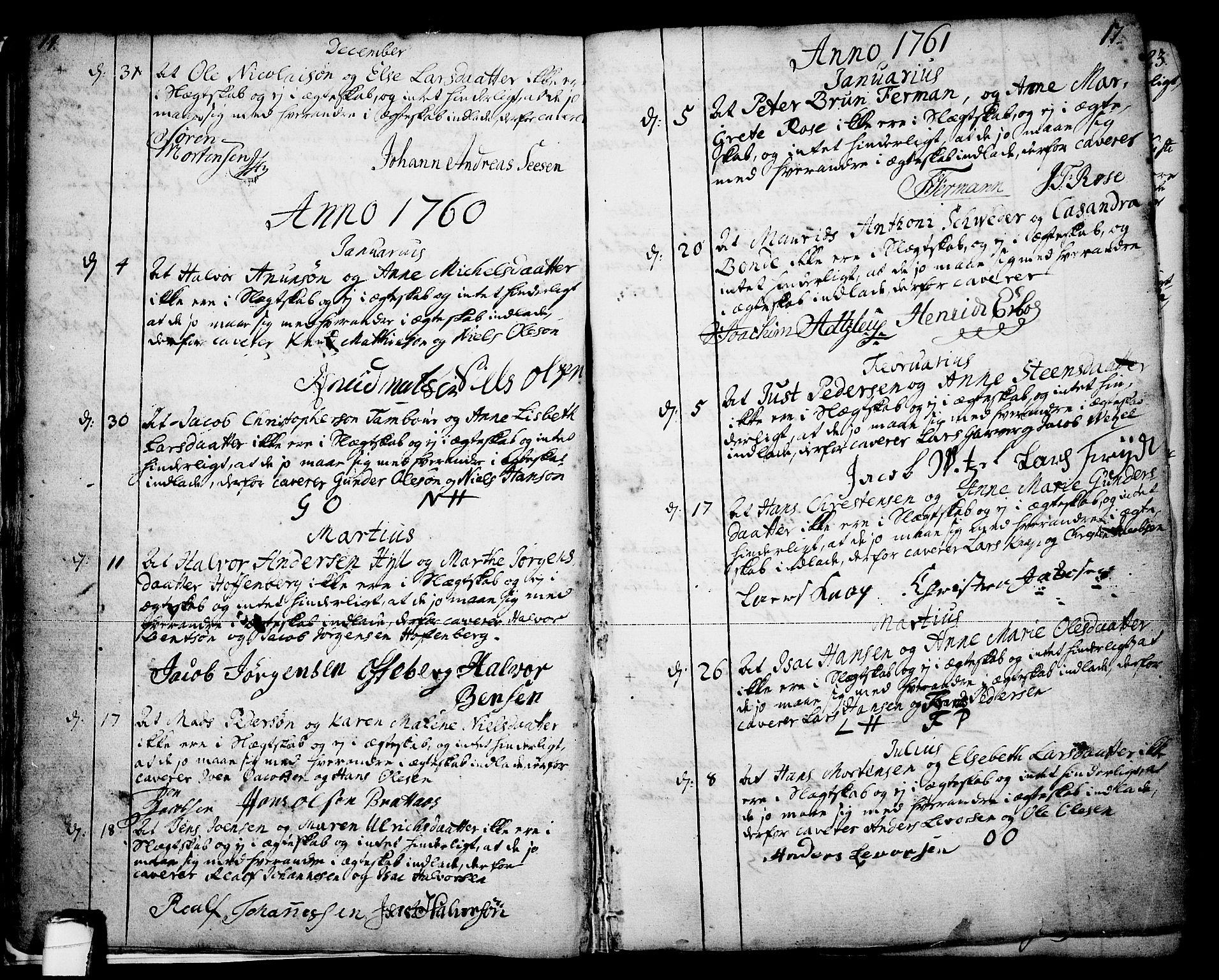 SAKO, Skien kirkebøker, F/Fa/L0003: Ministerialbok nr. 3, 1755-1791, s. 14-15