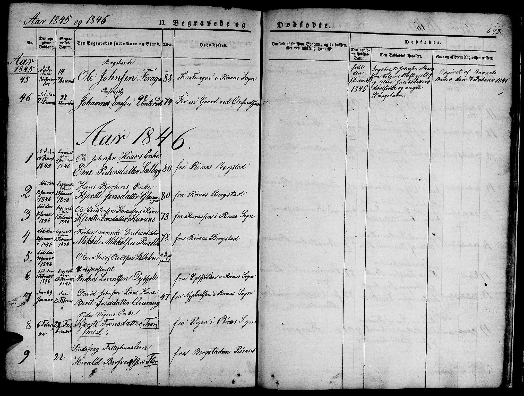 SAT, Ministerialprotokoller, klokkerbøker og fødselsregistre - Sør-Trøndelag, 681/L0939: Klokkerbok nr. 681C03, 1829-1855, s. 648